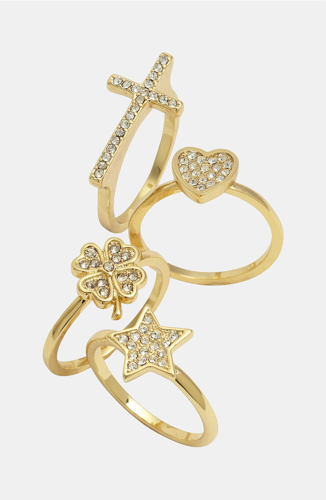 Alternate Image 2  - Ariella Collection Pavé Clover Ring