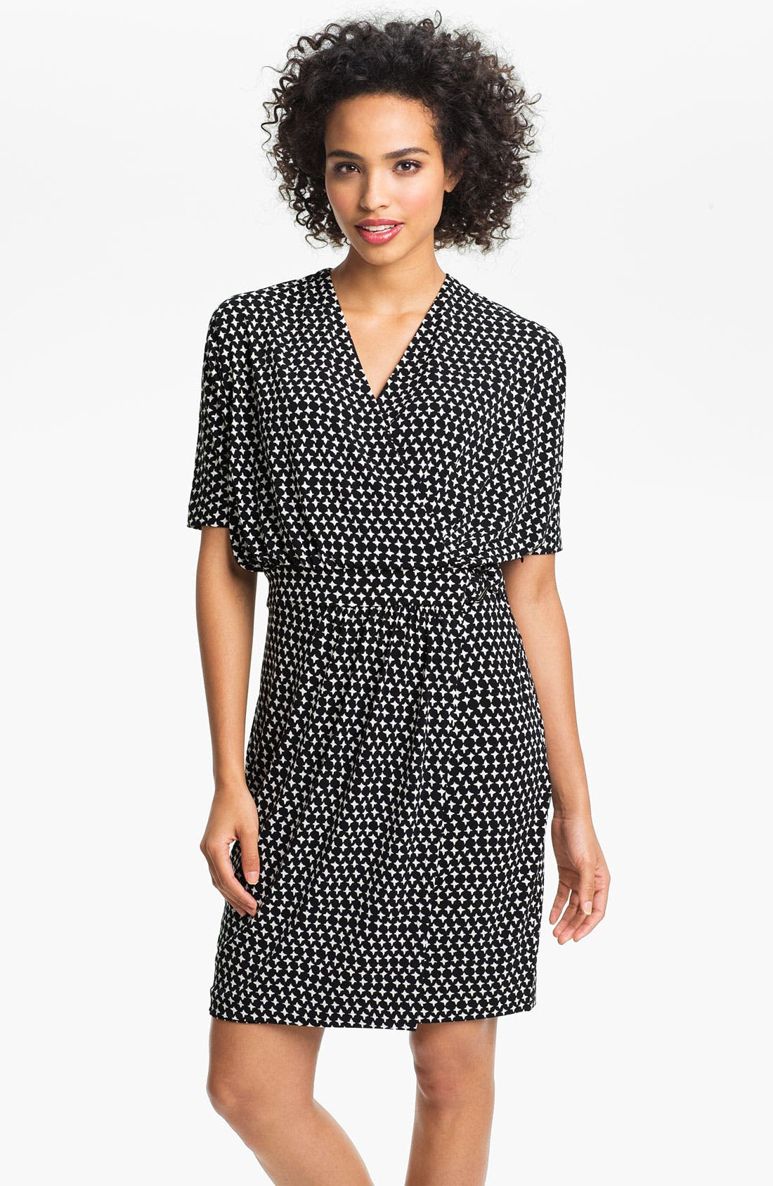 Alternate Image 1 Selected - Vince Camuto Star Print Faux Wrap Dress
