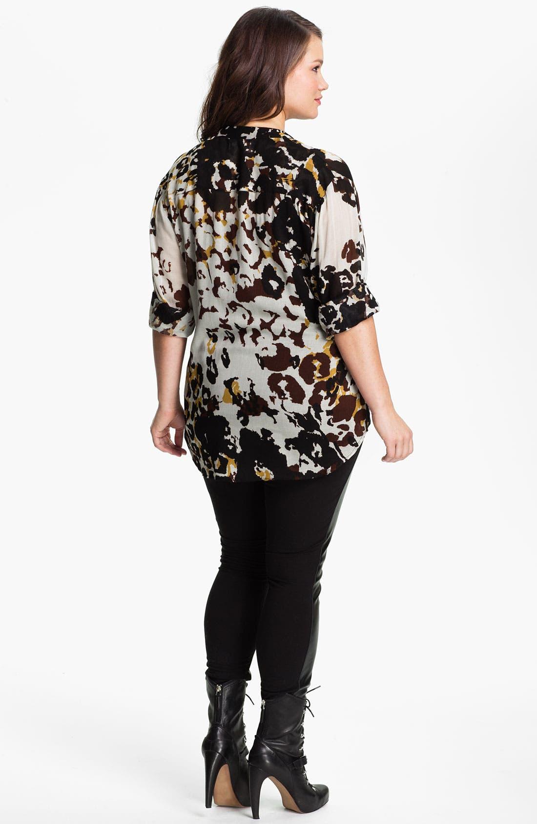 Alternate Image 5  - Nation LTD 'Sonoma' Leopard Print Shirt (Plus)