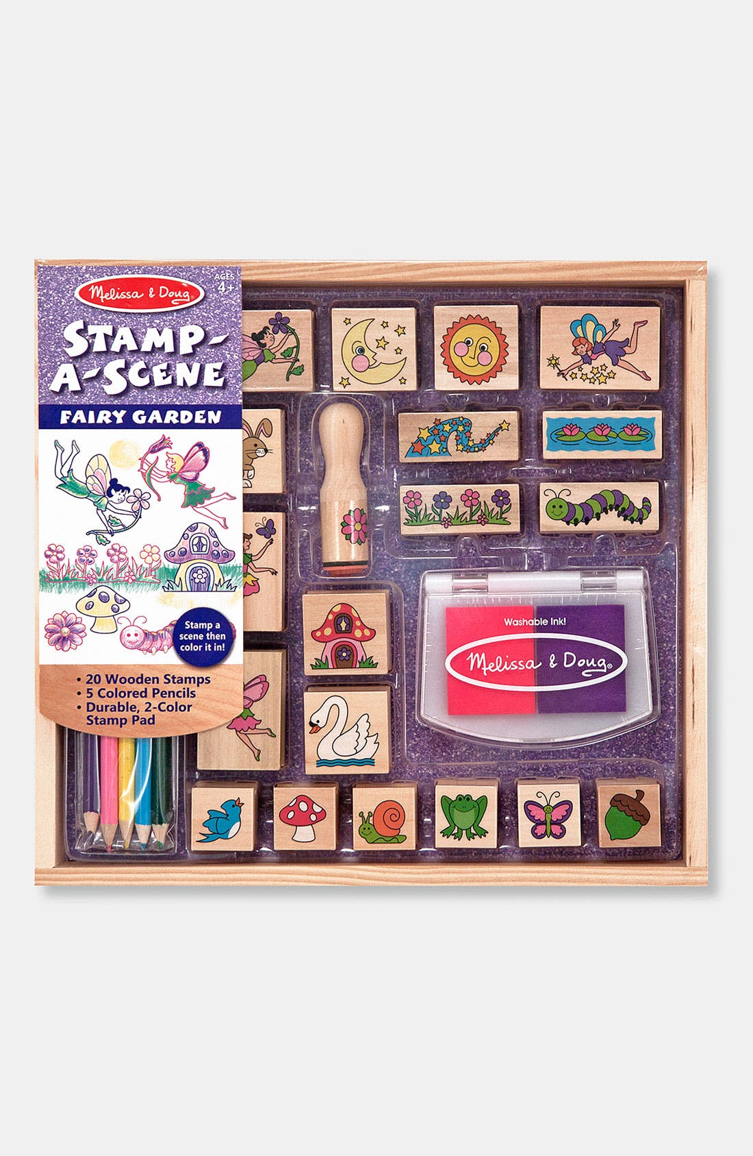 'Stamp-A-Scene - Fairy Garden' Stamp Set,                             Main thumbnail 1, color,                             Brown