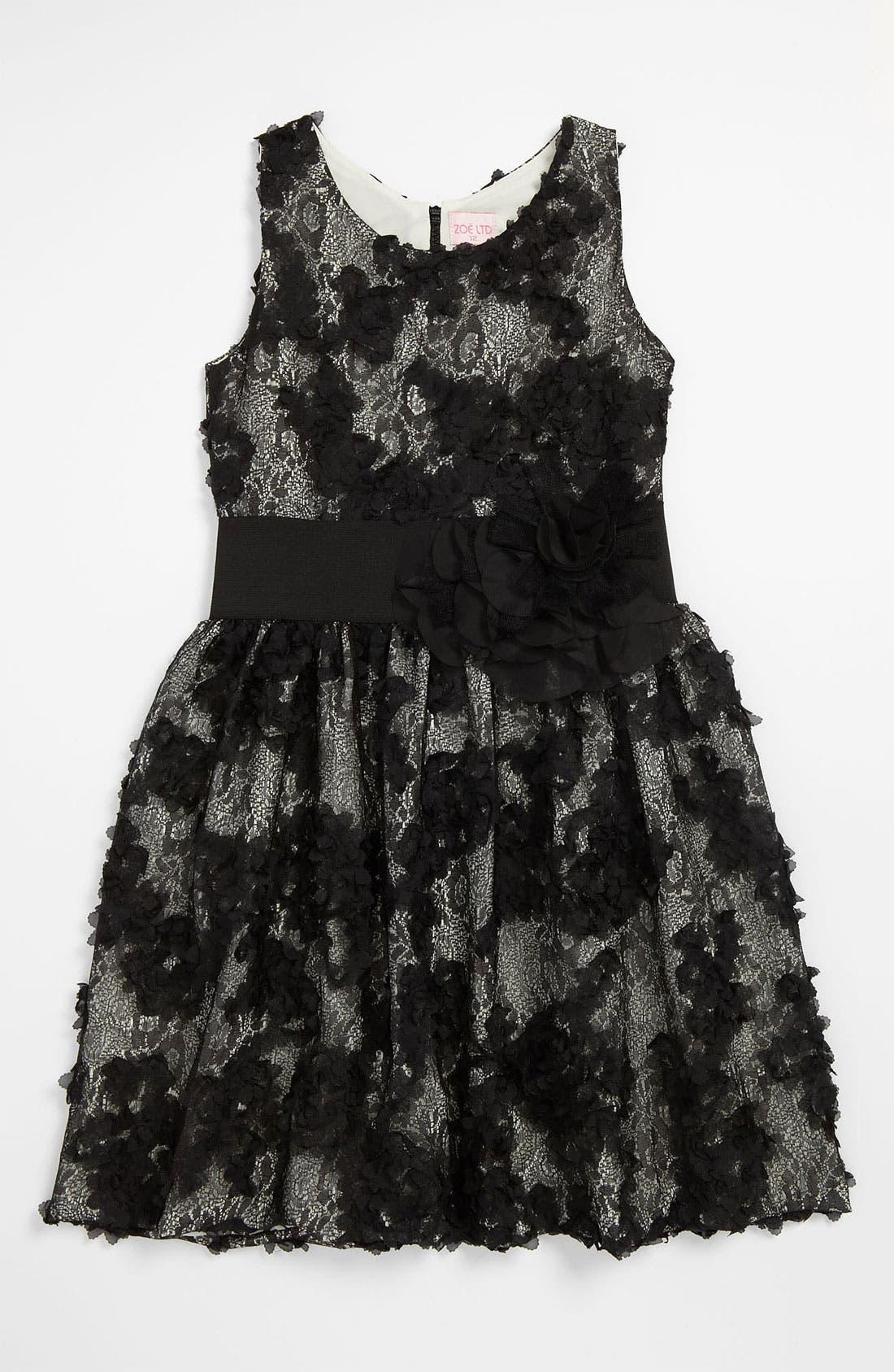 Main Image - Zoe Ltd Textured Lace Dress (Big Girls)