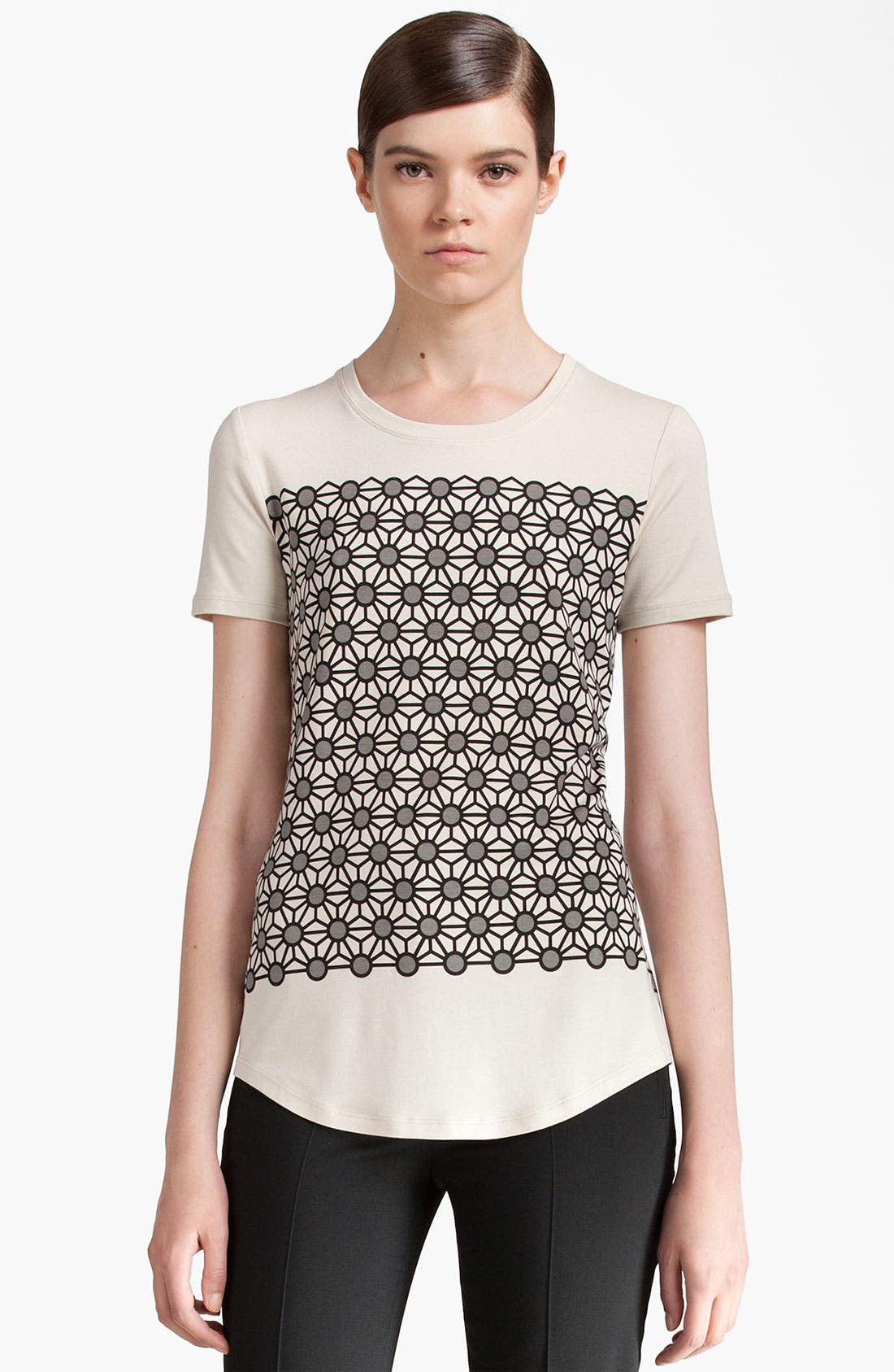 Alternate Image 1 Selected - Jil Sander Navy Geometric Print Jersey Tee