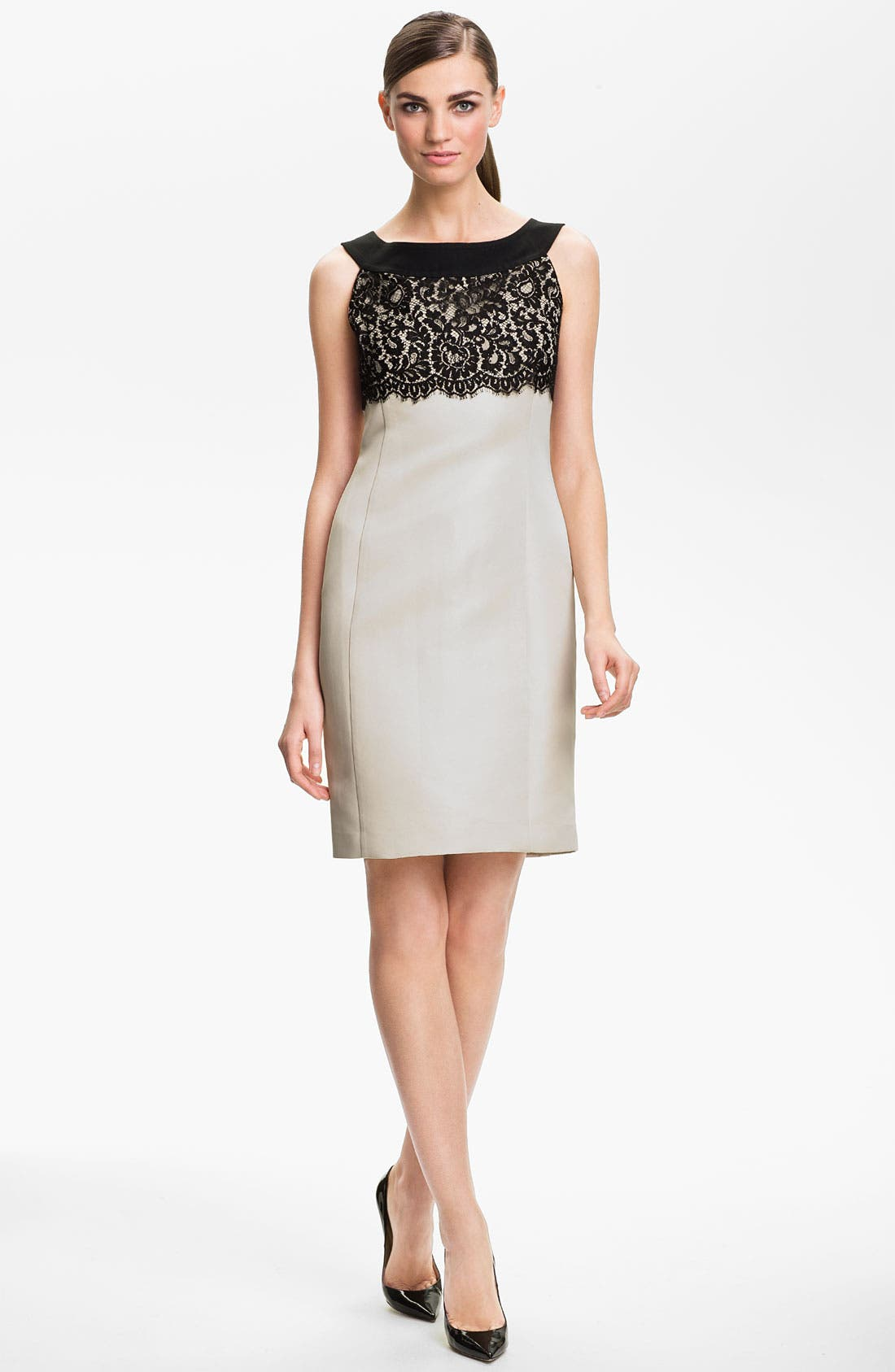 Alternate Image 1 Selected - St. John Collection Lace & Sequin Sheath Dress