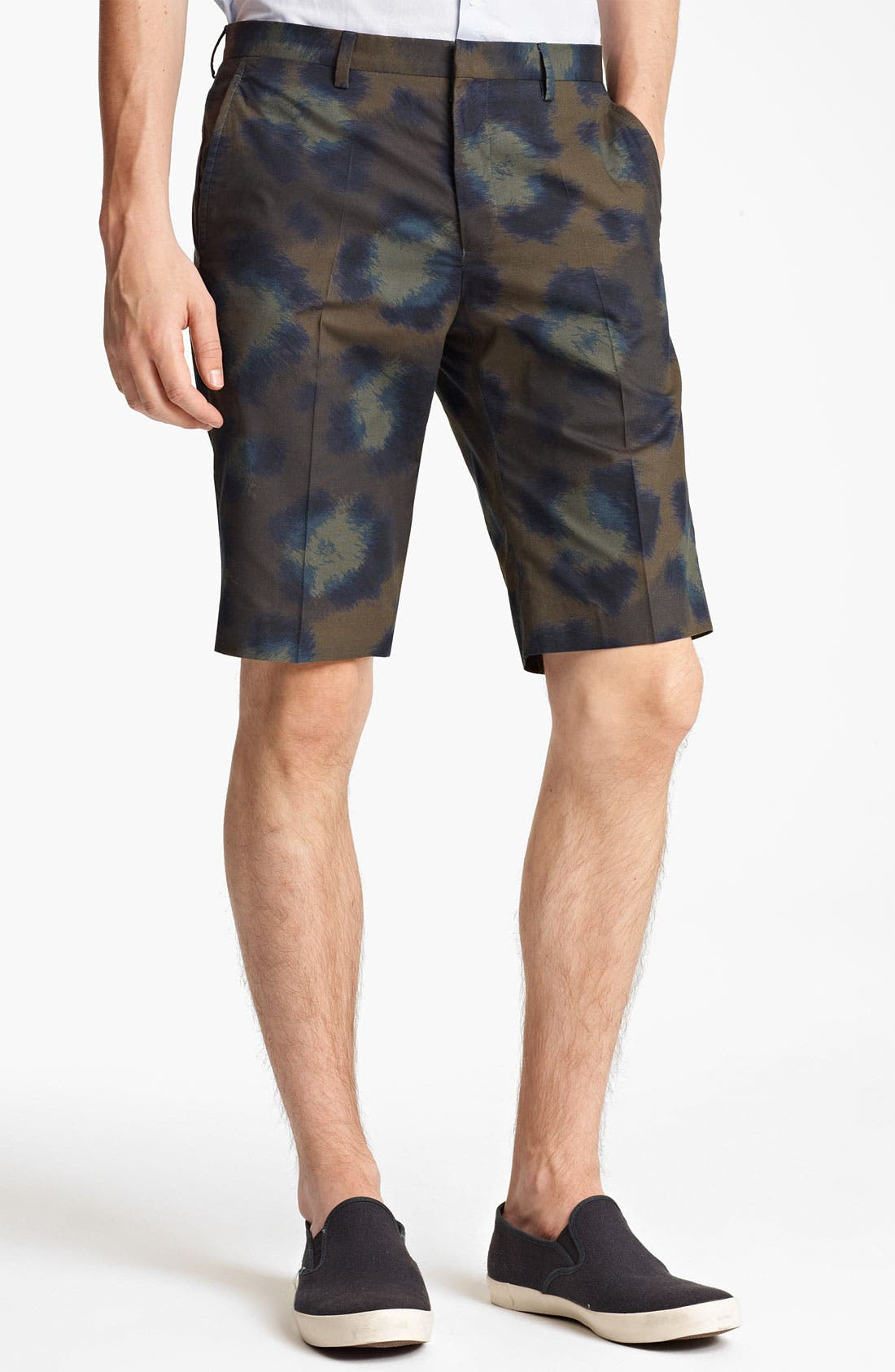 Main Image - KENZO Leopard Camo Print Cotton Shorts