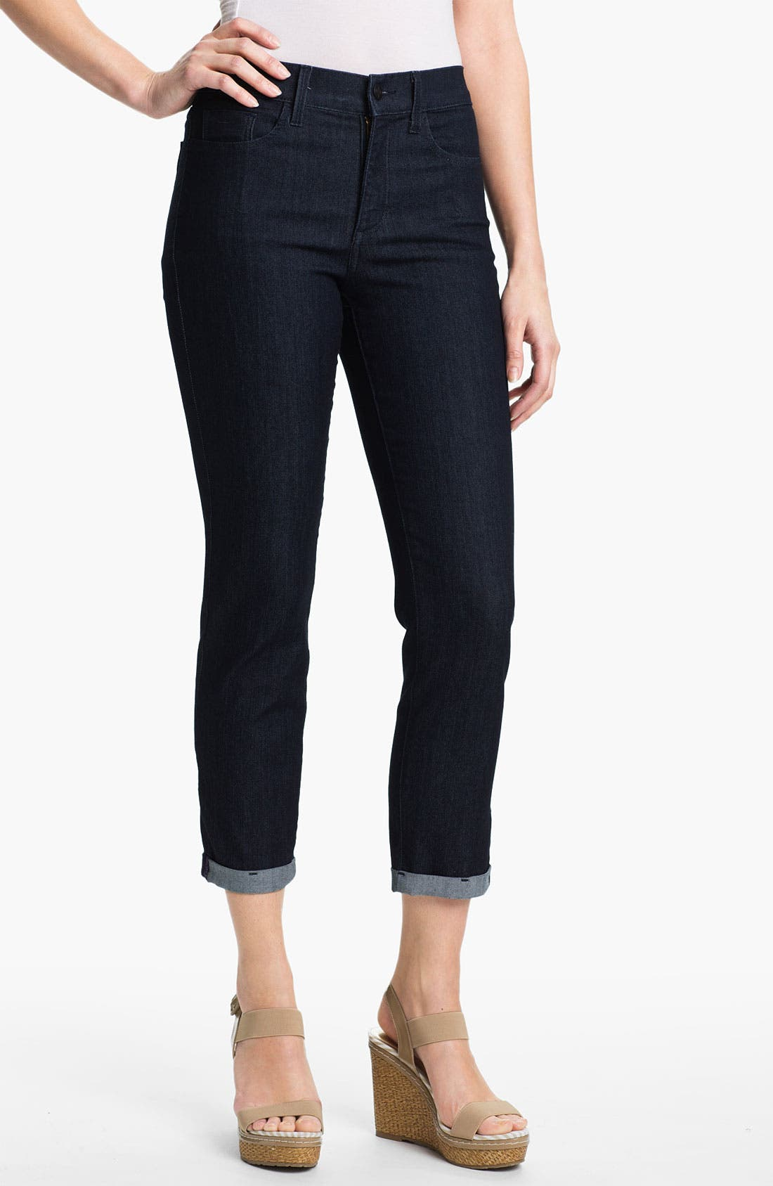 Alternate Image 1 Selected - NYDJ 'Kendall' Cuffed Crop Stretch Jeans
