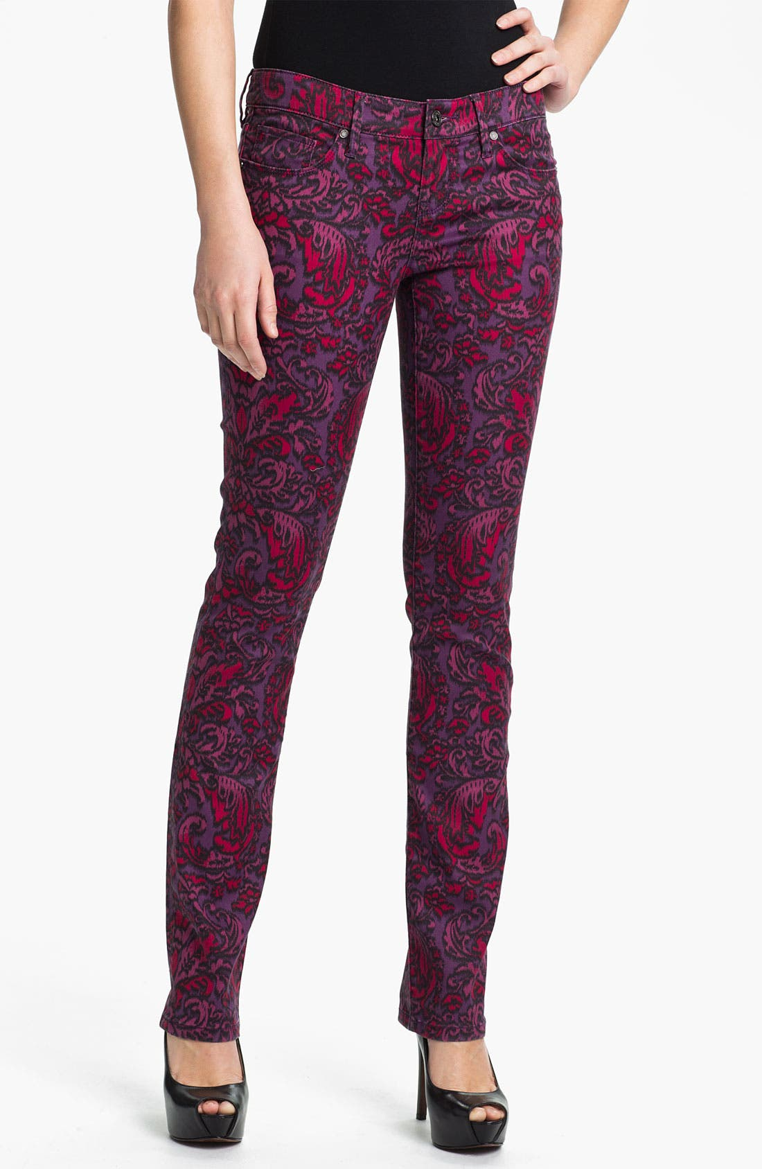 Main Image - Isaac Mizrahi Jeans 'Emma' Straight Leg Print Jeans (Online Exclusive)