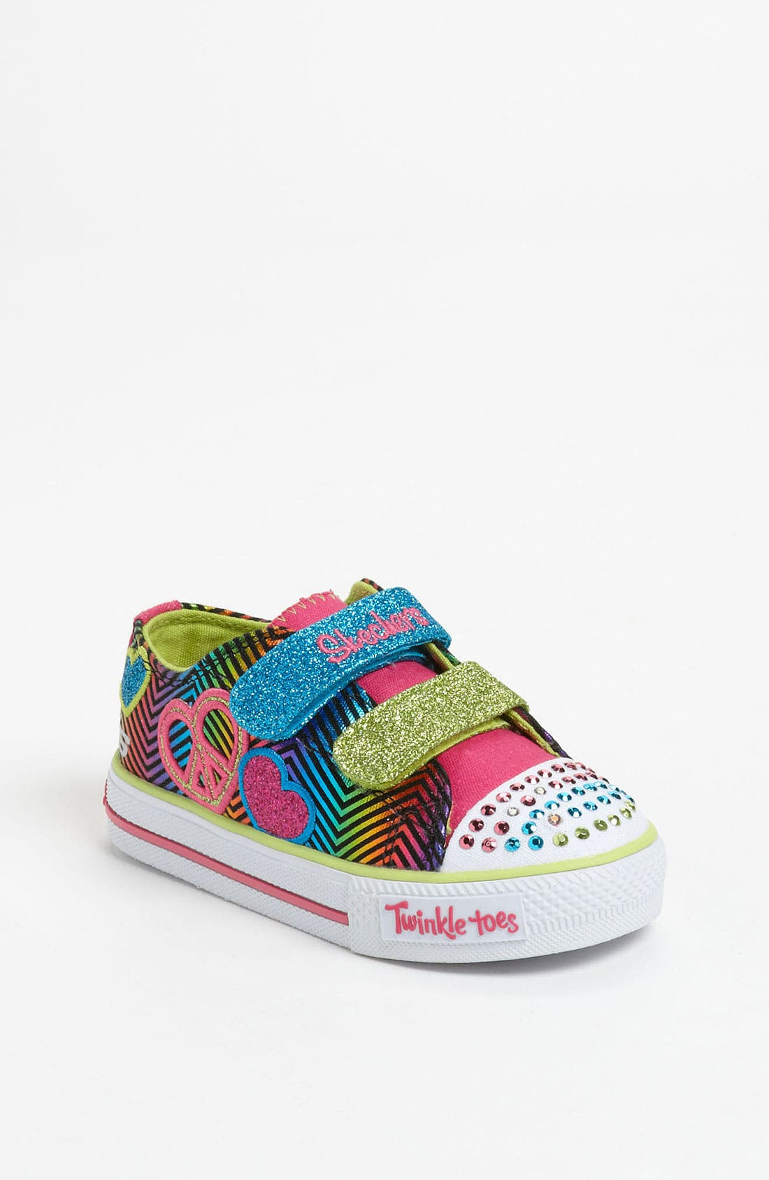 Main Image - SKECHERS 'Shuffles - Baby Luv' Light Up Sneaker (Walker & Toddler)