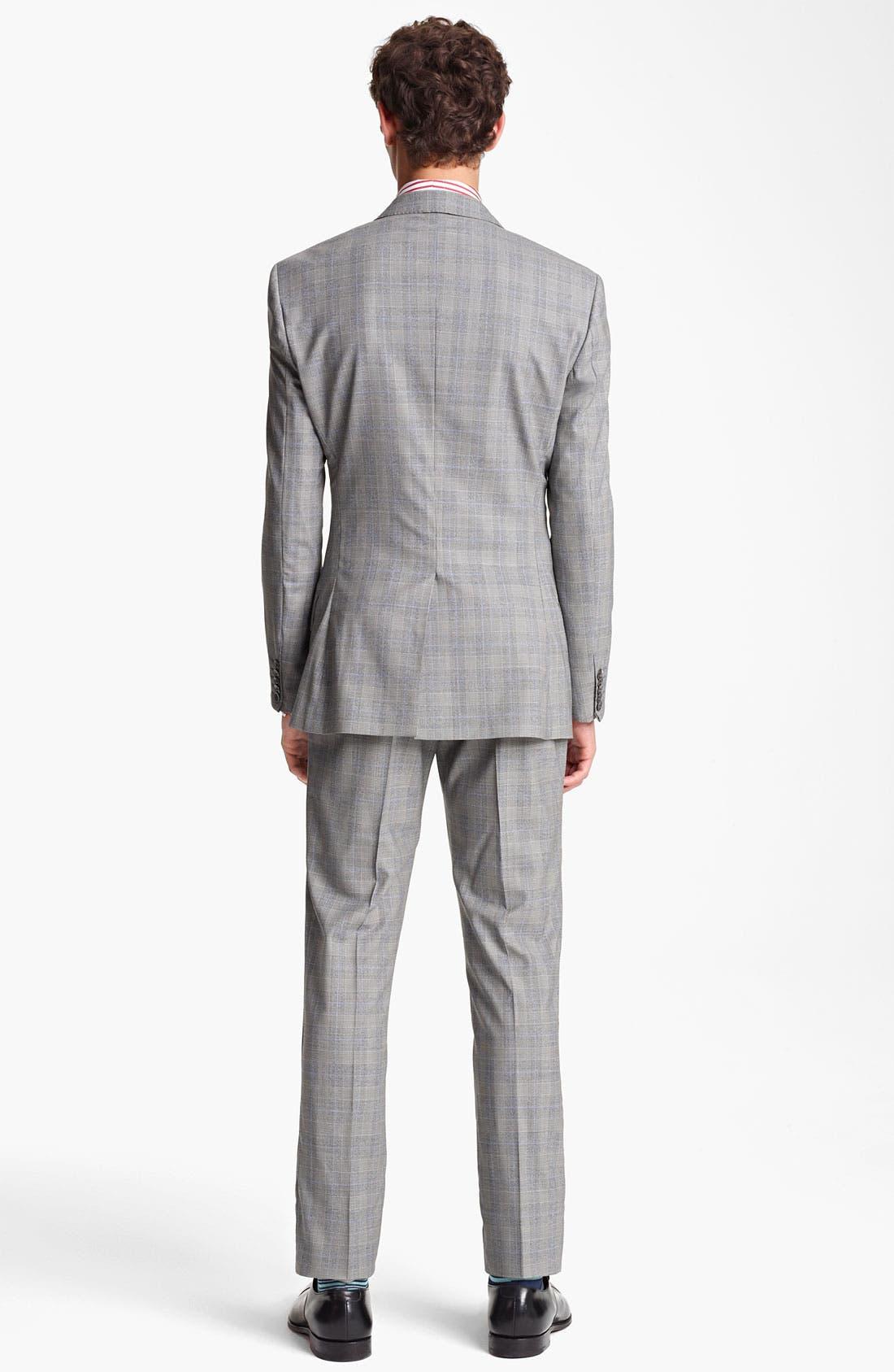Alternate Image 3  - Paul Smith London Slim Fit Glen Plaid Wool Suit