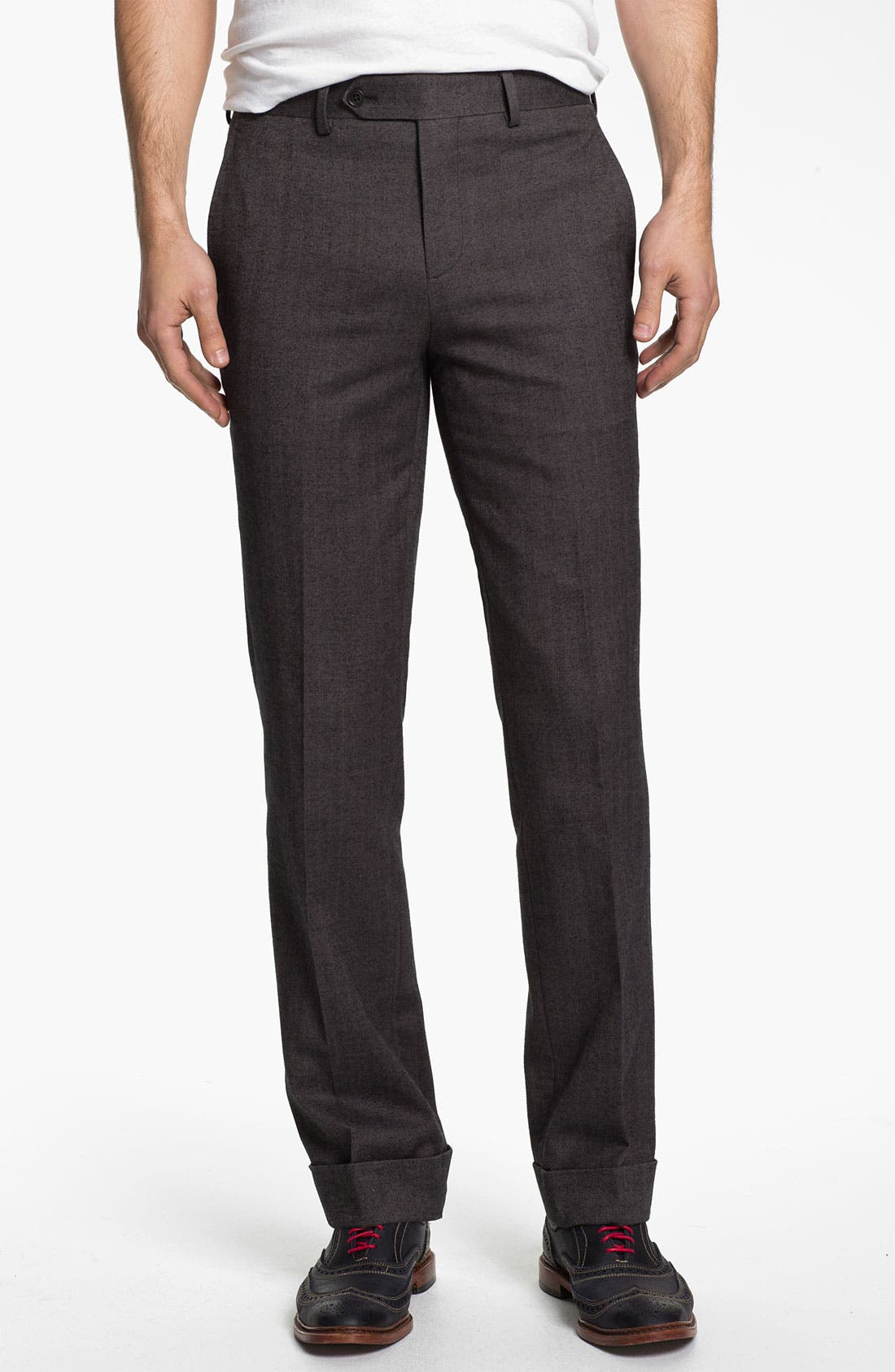 Alternate Image 1 Selected - 1901 Straight Leg Herringbone Trousers