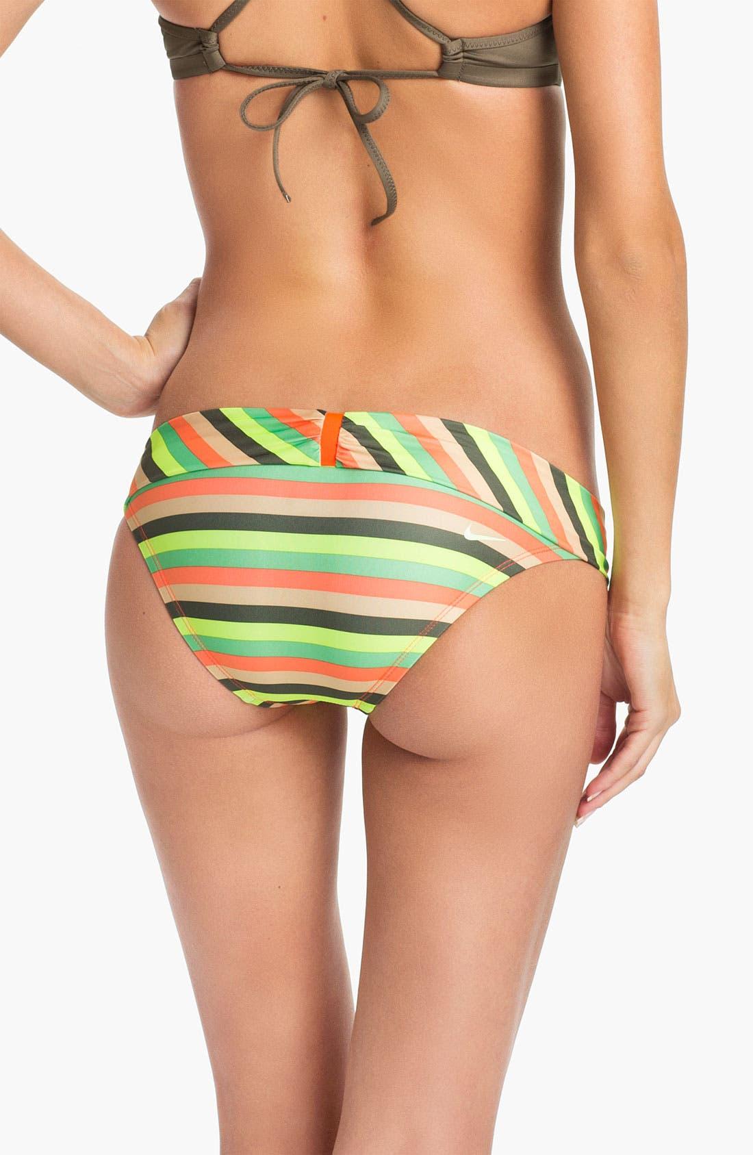 Alternate Image 2  - Nike 'Epic' Stripe Bikini Bottoms