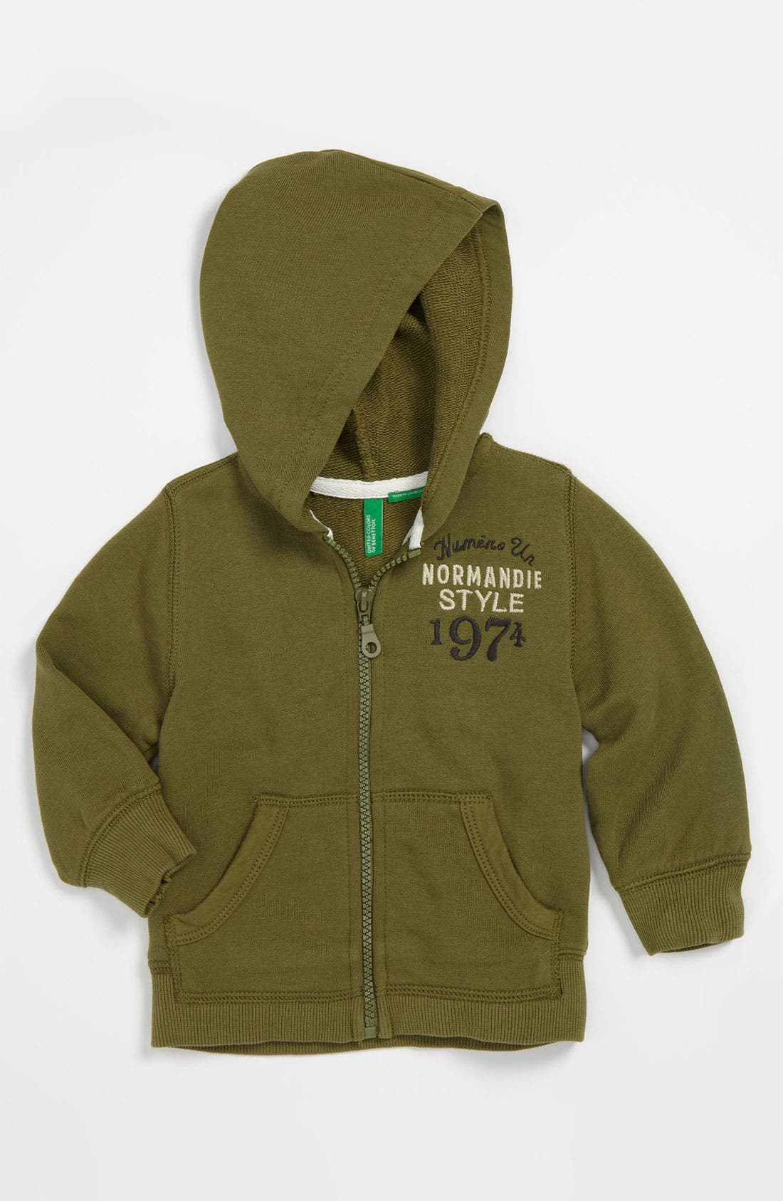 Alternate Image 1 Selected - United Colors of Benetton Kids 'Normandie' Hoodie (Toddler)