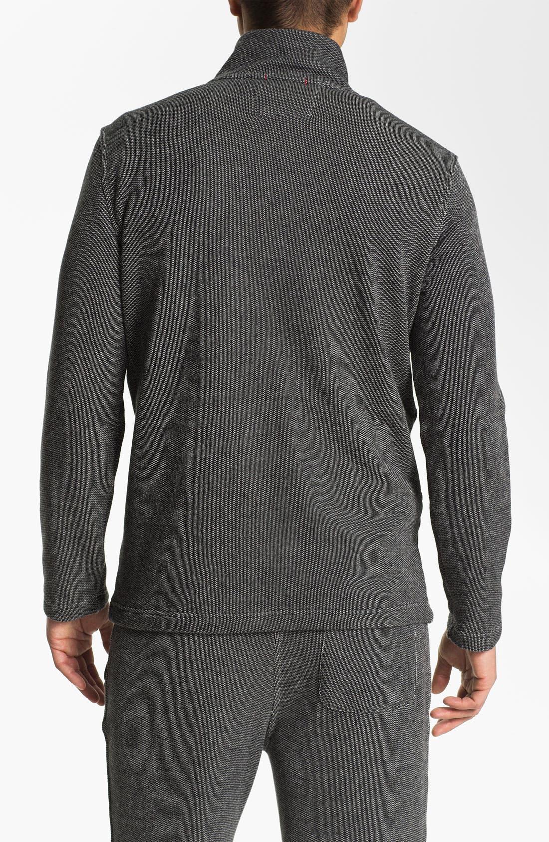 Alternate Image 2  - Daniel Buchler Quarter Zip Textured Cotton Blend Sweatshirt