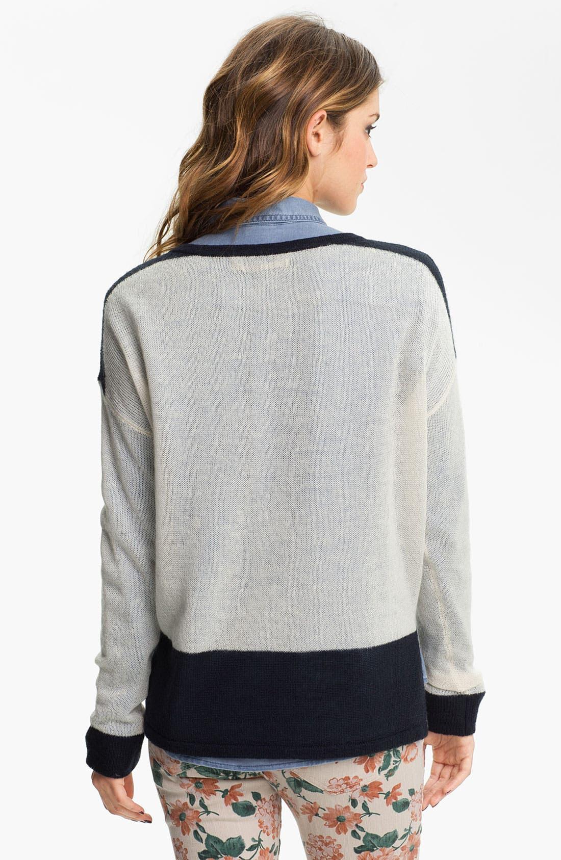 Alternate Image 2  - Rubbish® Colorblock Boxy Sweater (Juniors)