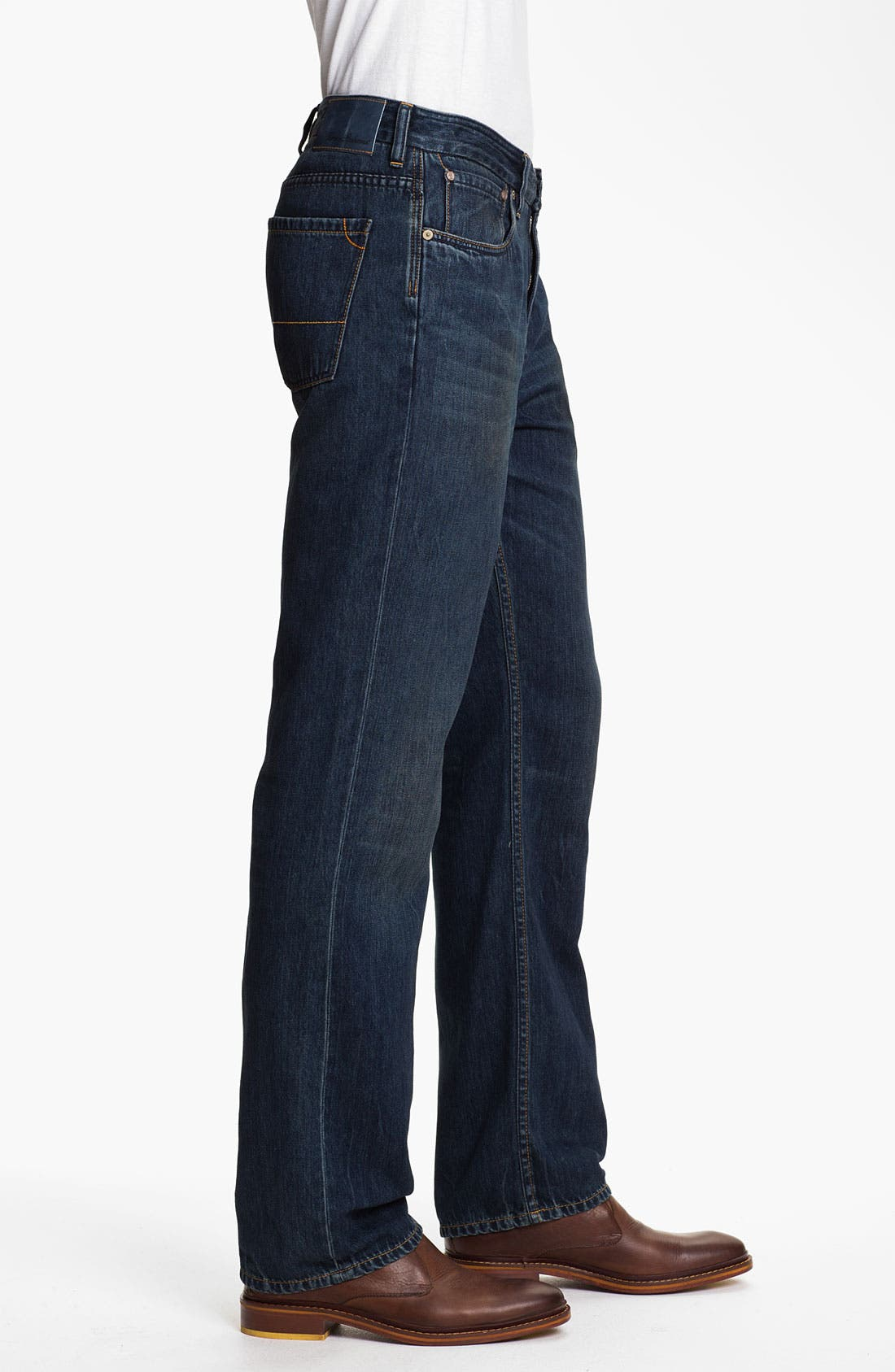 Alternate Image 3  - Tommy Bahama Denim 'Coastal Island Ease' Straight Leg Jeans (Dark Storm) (Big & Tall)