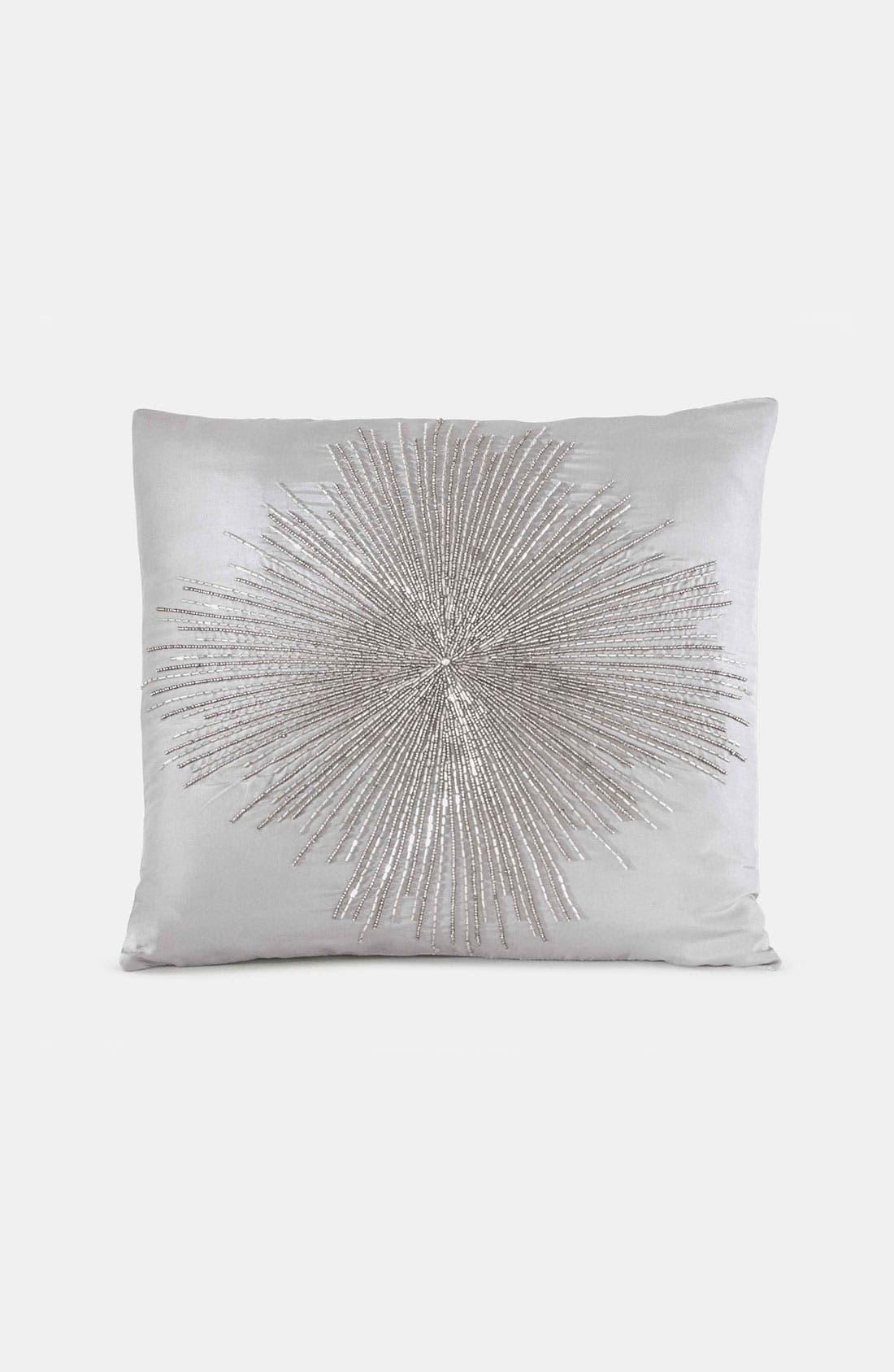 Alternate Image 1 Selected - Donna Karan 'Beaded Starburst' Silk Pillow