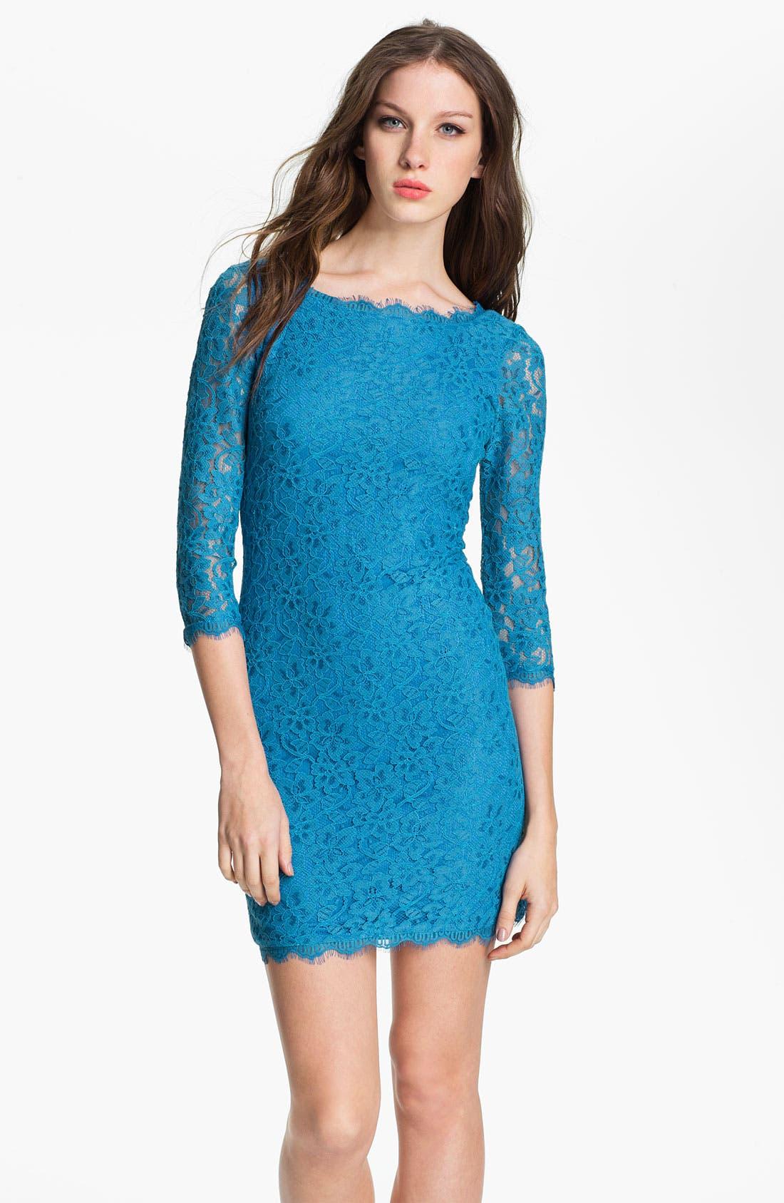Alternate Image 1 Selected - Diane von Furstenberg 'Zarita' Lace Dress