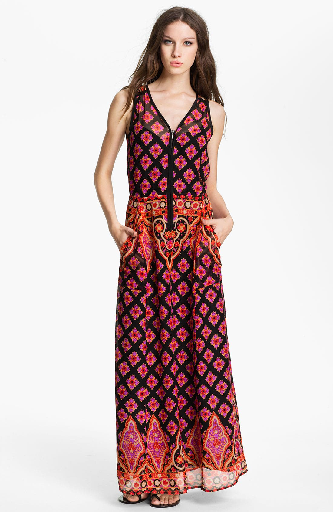 Alternate Image 1 Selected - Nanette Lepore 'Electrifying' Silk Maxi Dress