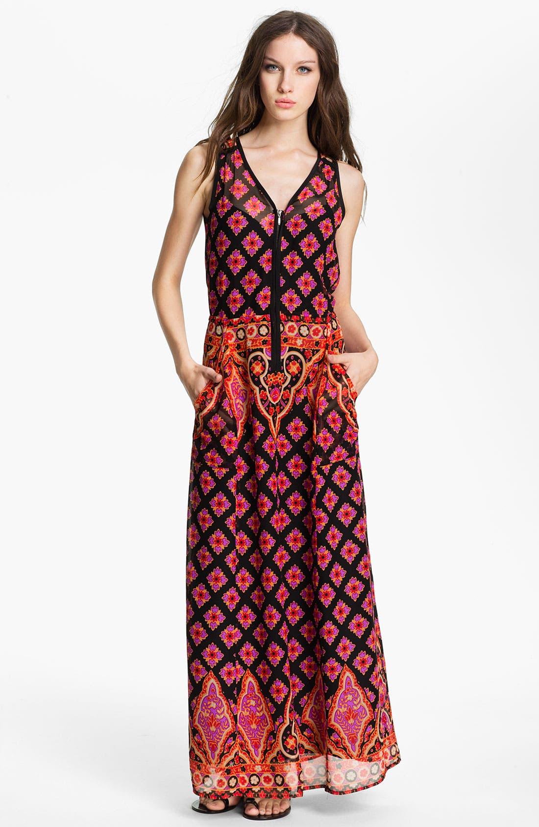 Main Image - Nanette Lepore 'Electrifying' Silk Maxi Dress