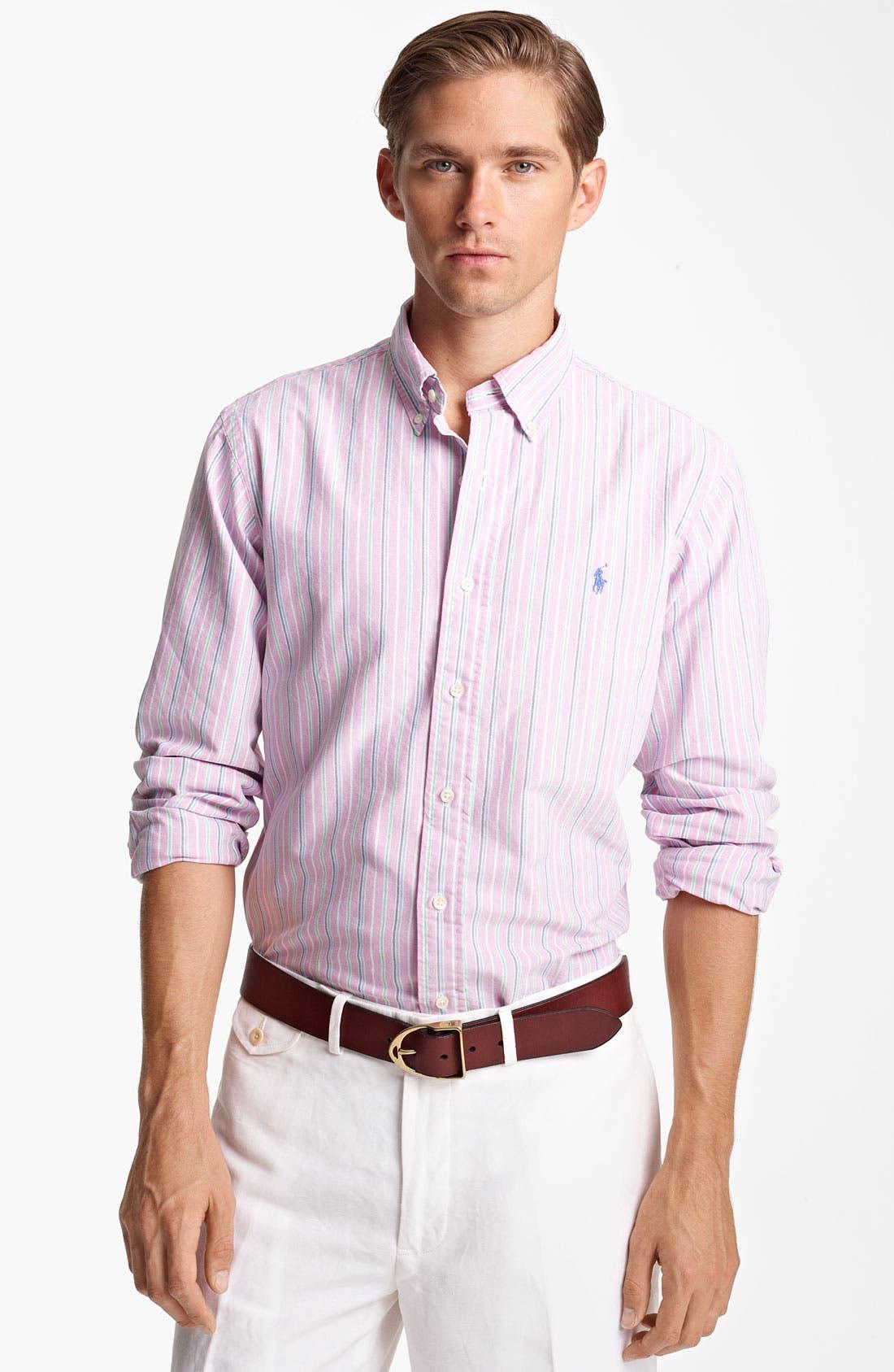 Alternate Image 1 Selected - Polo Ralph Lauren Custom Fit Sport Shirt (Online Only)