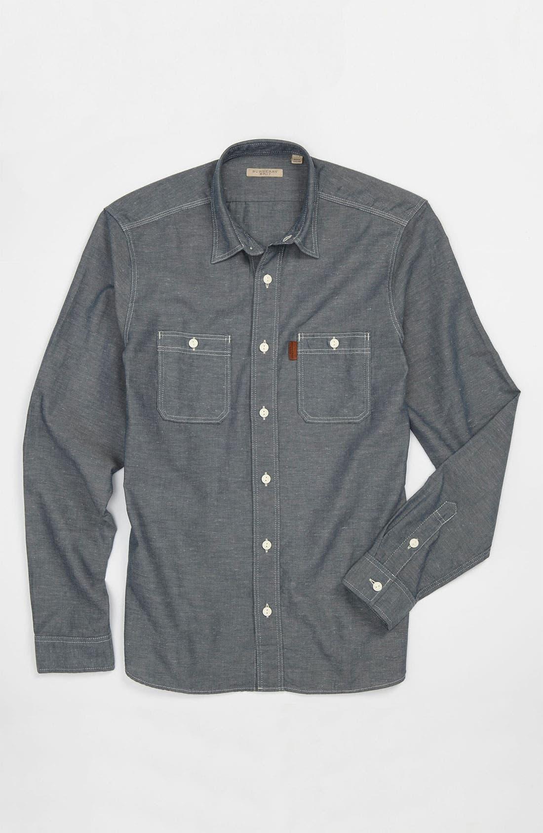 Alternate Image 4  - Burberry Brit Denim Sport Shirt
