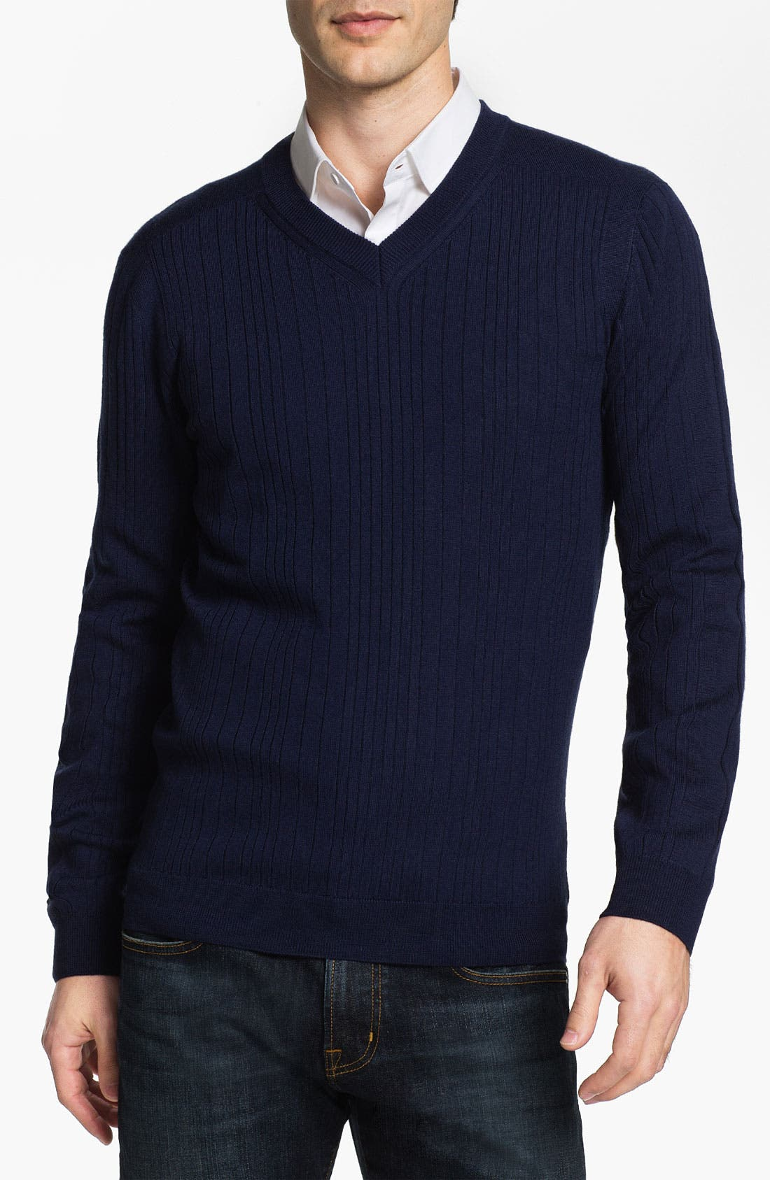 Alternate Image 1 Selected - HUGO 'Sagaro' V-Neck Wool Sweater