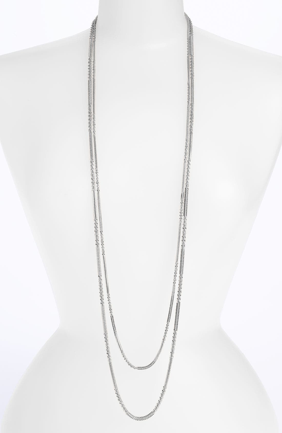 Main Image - Natasha Couture Double Strand Layering Necklace