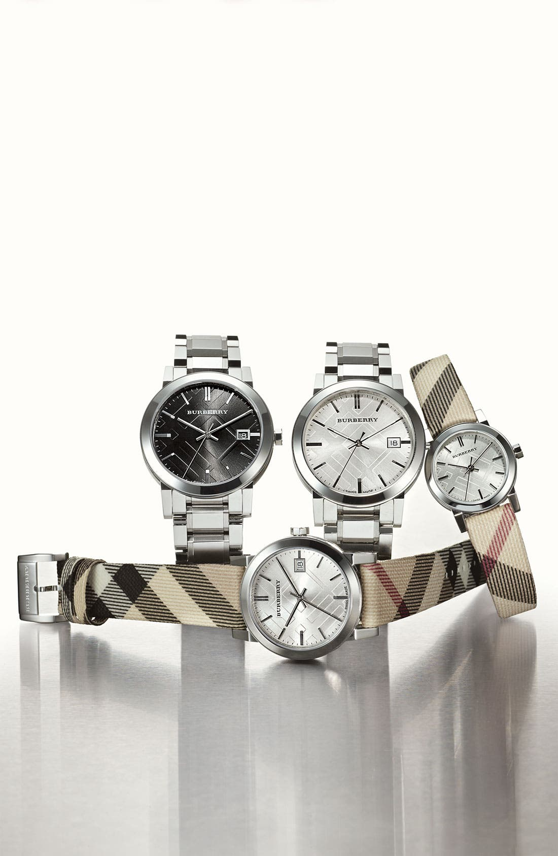 Alternate Image 2  - Burberry Small Check Strap Watch