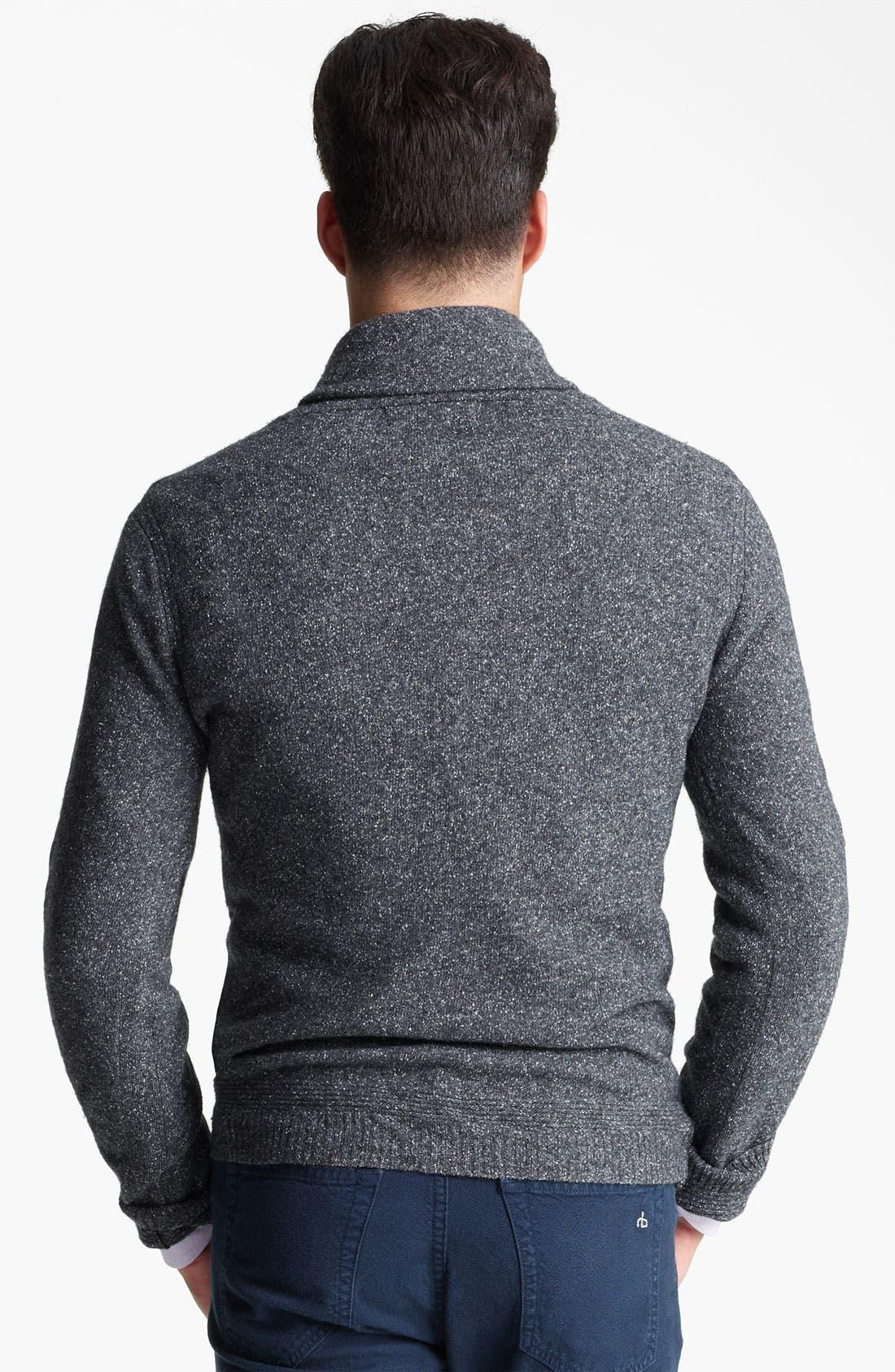 Alternate Image 2  - rag & bone 'Hornberg' Shawl Collar Sweater