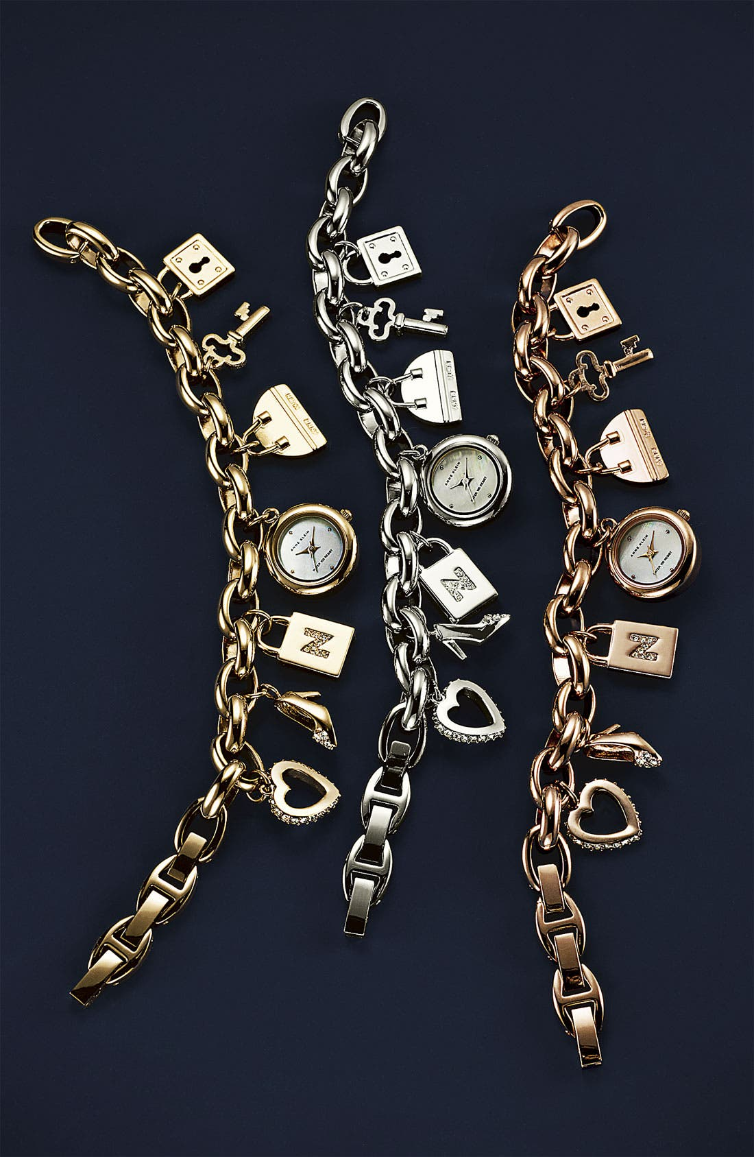 Alternate Image 2  - Anne Klein Charm Bracelet Watch (Nordstrom Exclusive)
