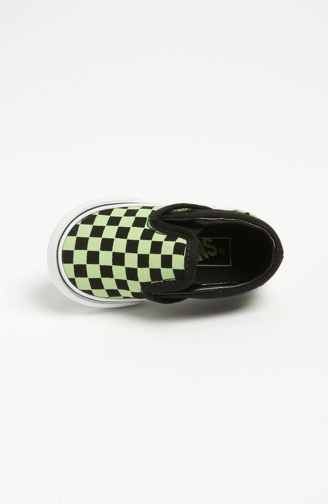 Alternate Image 3  - Vans 'Classic Checker - Glow in the Dark' Slip-On (Baby, Walker & Toddler)