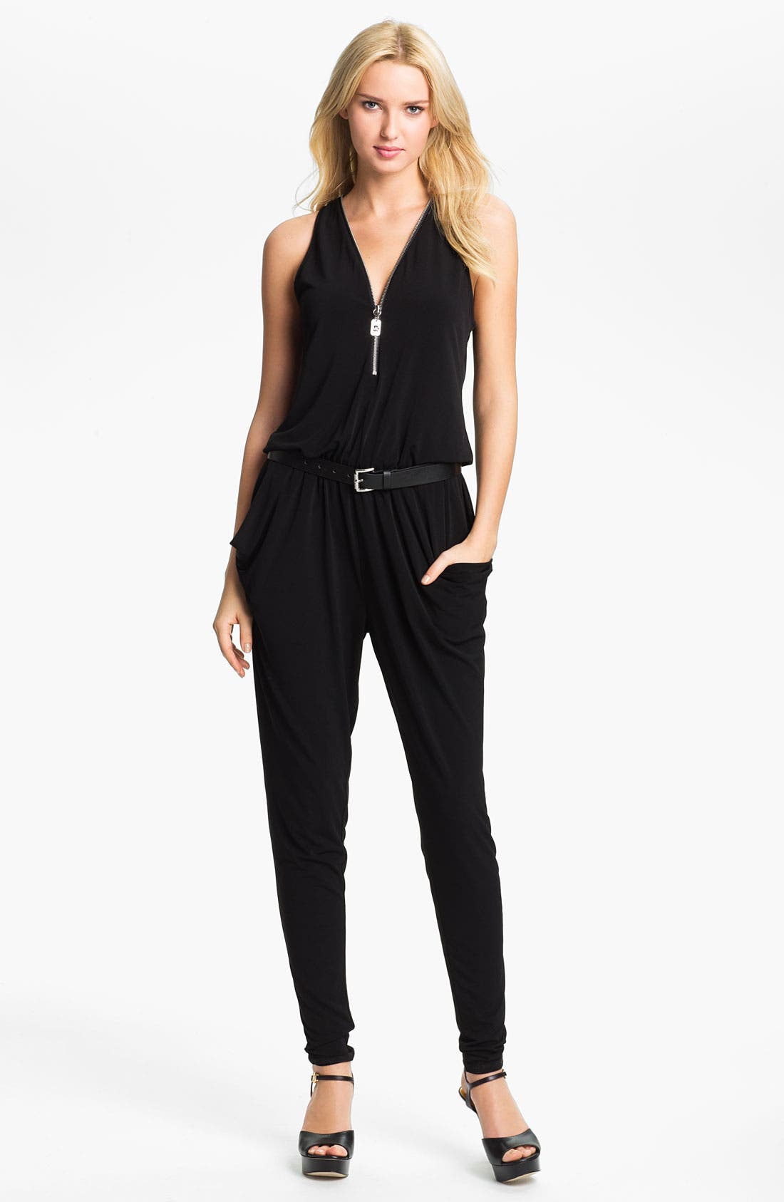 Alternate Image 1 Selected - MICHAEL Michael Kors Zip Front Jumpsuit