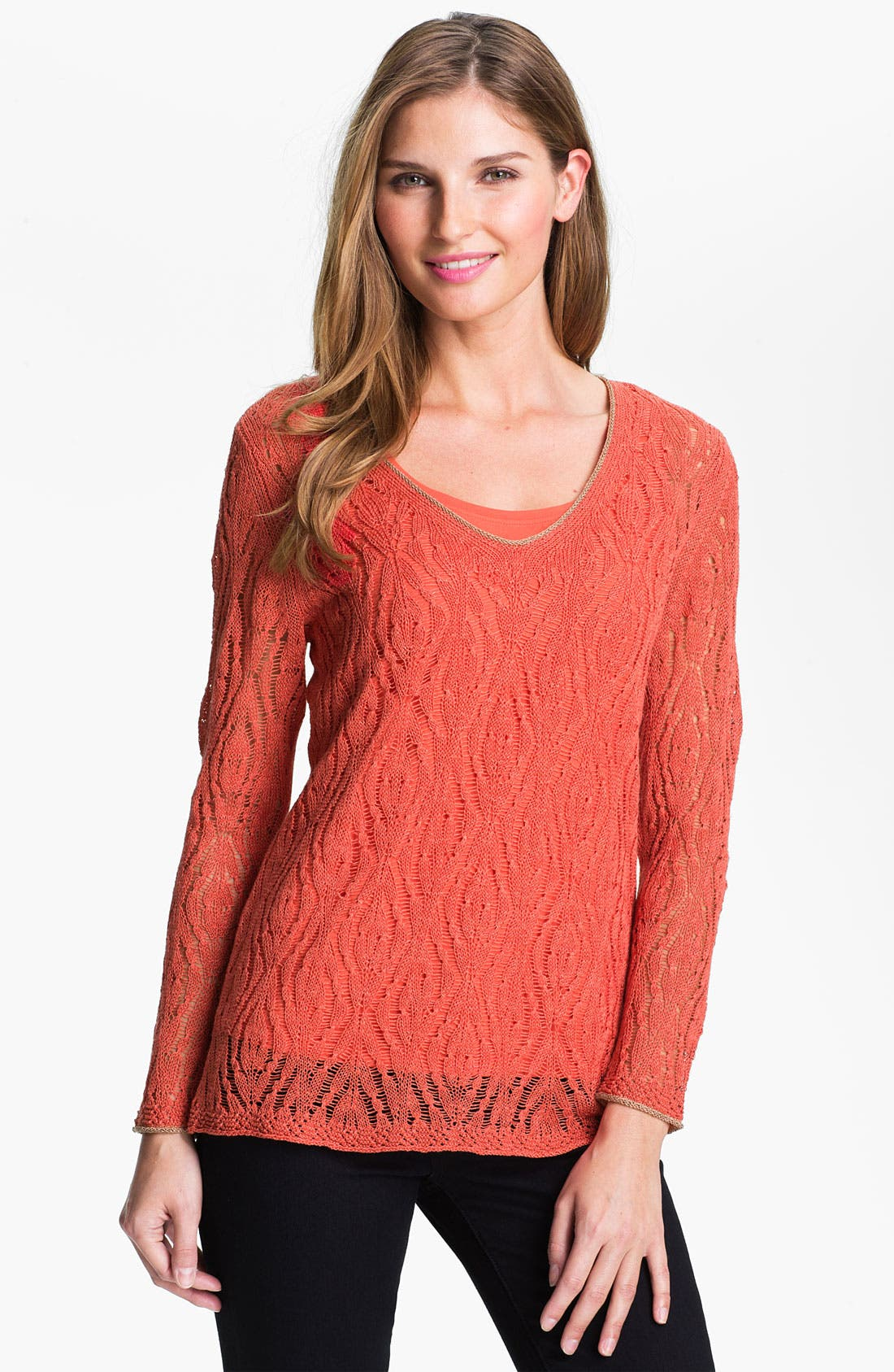 Alternate Image 1 Selected - Nic + Zoe 'Starfish' Sweater (Online Exclusive)