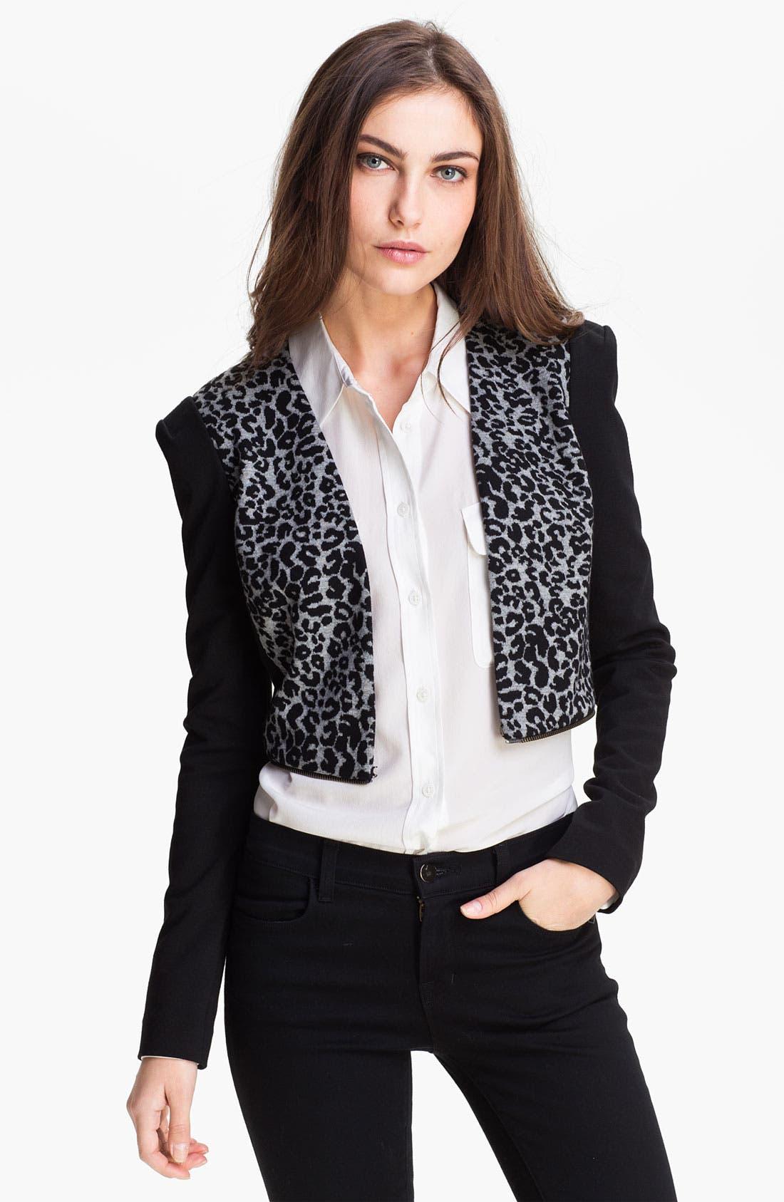 Alternate Image 2  - Rebecca Taylor Convertible Knit Blazer