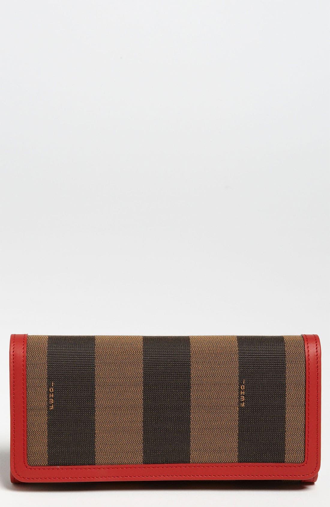 Main Image - Fendi 'Pequin' Continental Wallet
