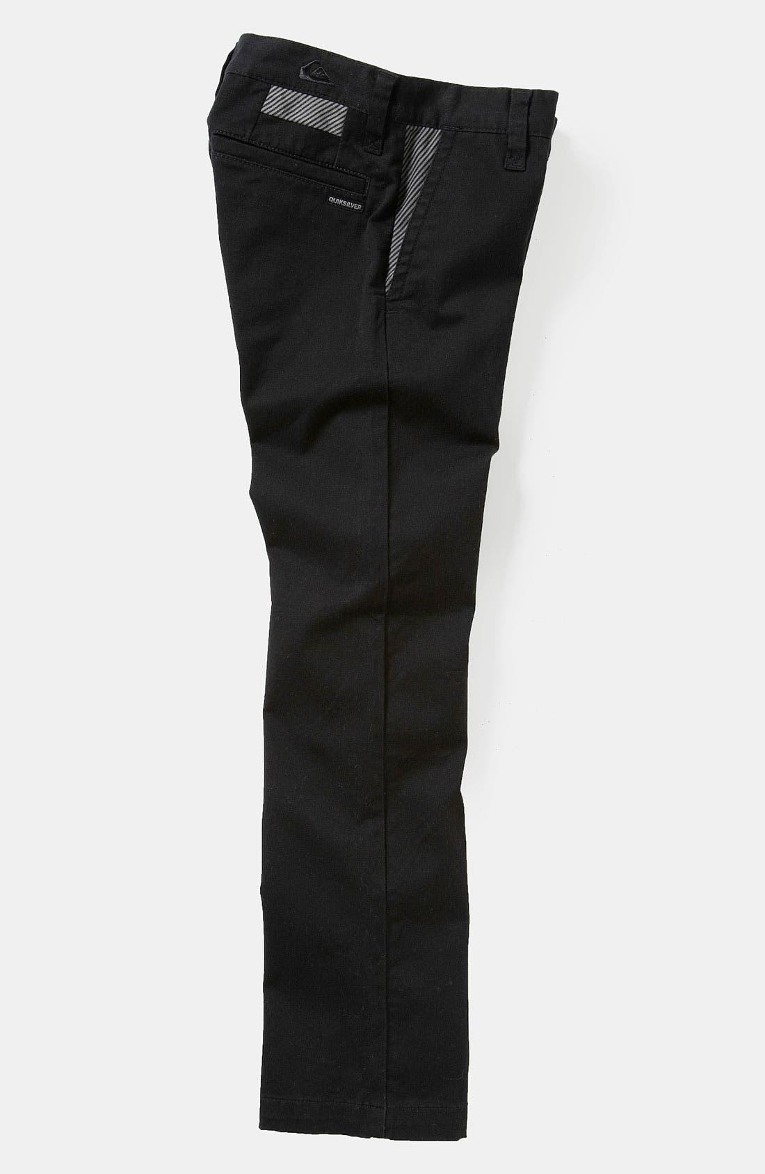 Alternate Image 2  - Quiksilver 'Box Wire' Slim Straight Leg Chino Pants (Big Boys)