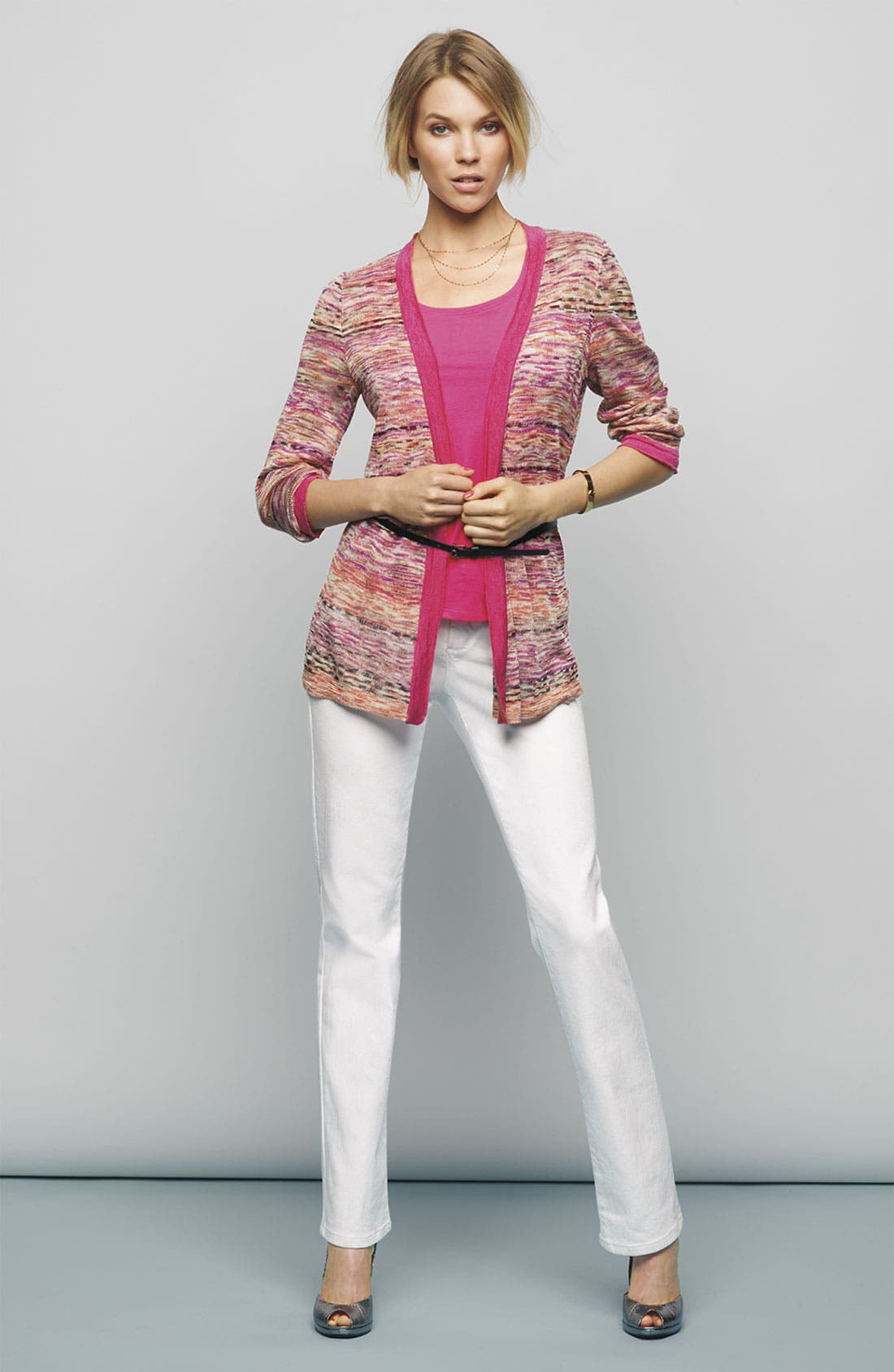 Alternate Image 4  - Nic + Zoe 'Heat Mix' Belted Cardigan (Petite)