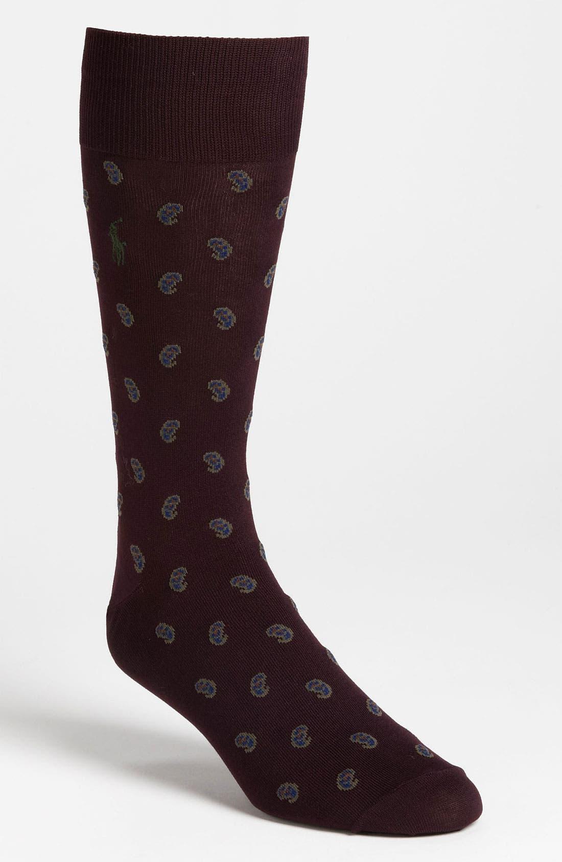 Alternate Image 1 Selected - Polo Ralph Lauren Paisley Socks