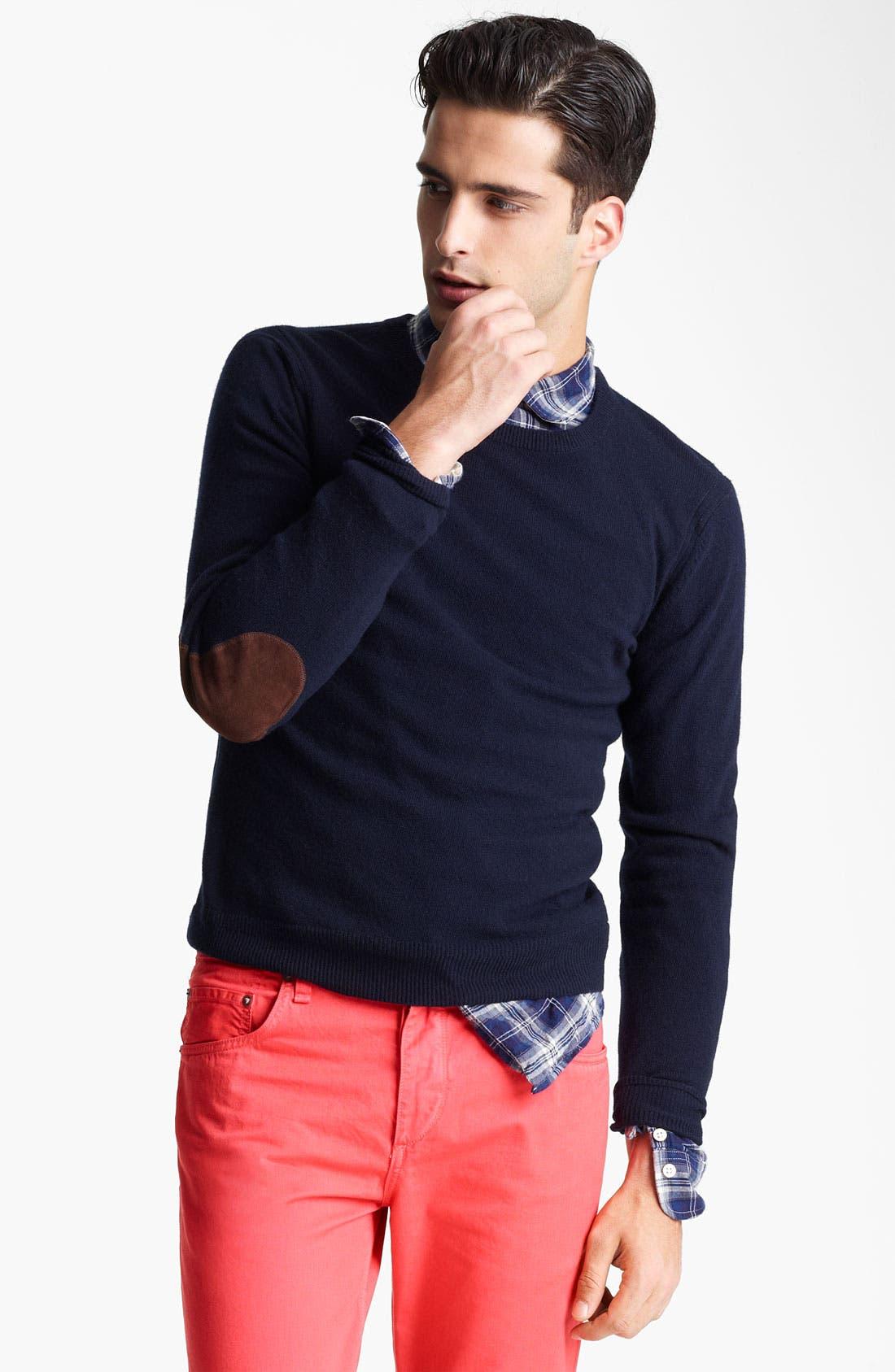 'Kampen' Crewneck Wool Sweater,                             Main thumbnail 1, color,                             Navy 2
