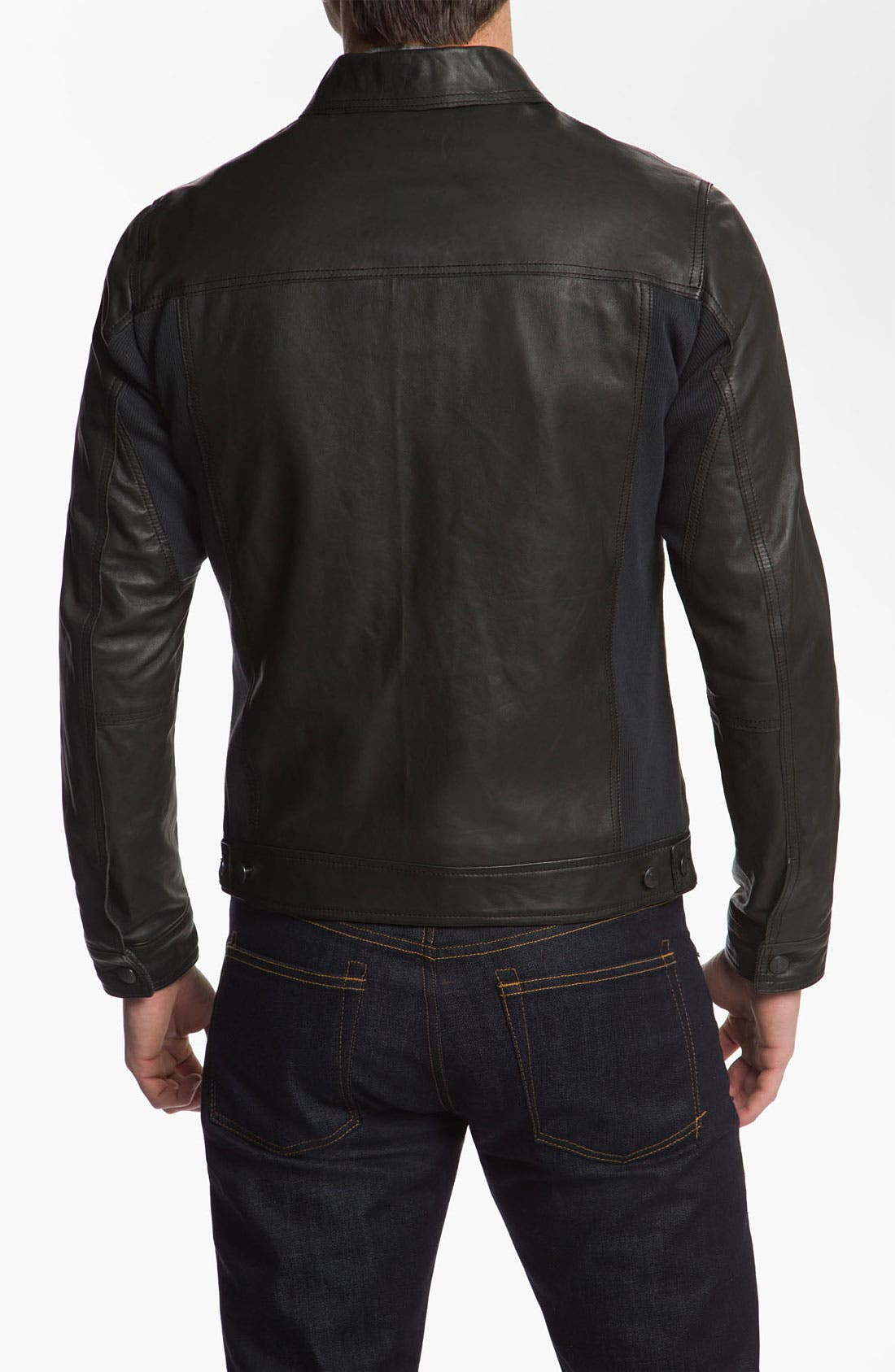 Alternate Image 2  - Edun 'Classic' Leather Moto Jacket