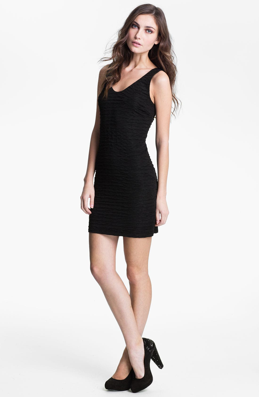 Alternate Image 1 Selected - Wyton Textured Jersey Tank Dress