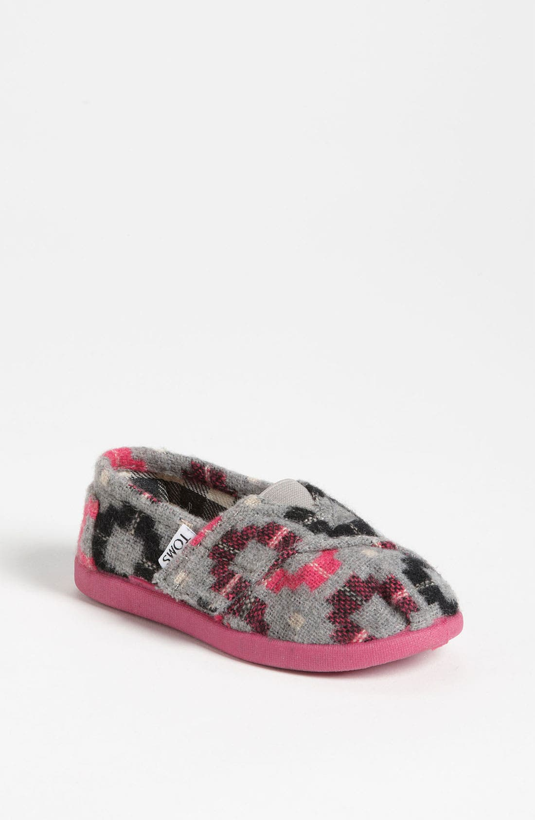 Main Image - TOMS 'Classic Tiny - Plaid Pop' Wool Slip-On (Baby, Walker & Toddler)