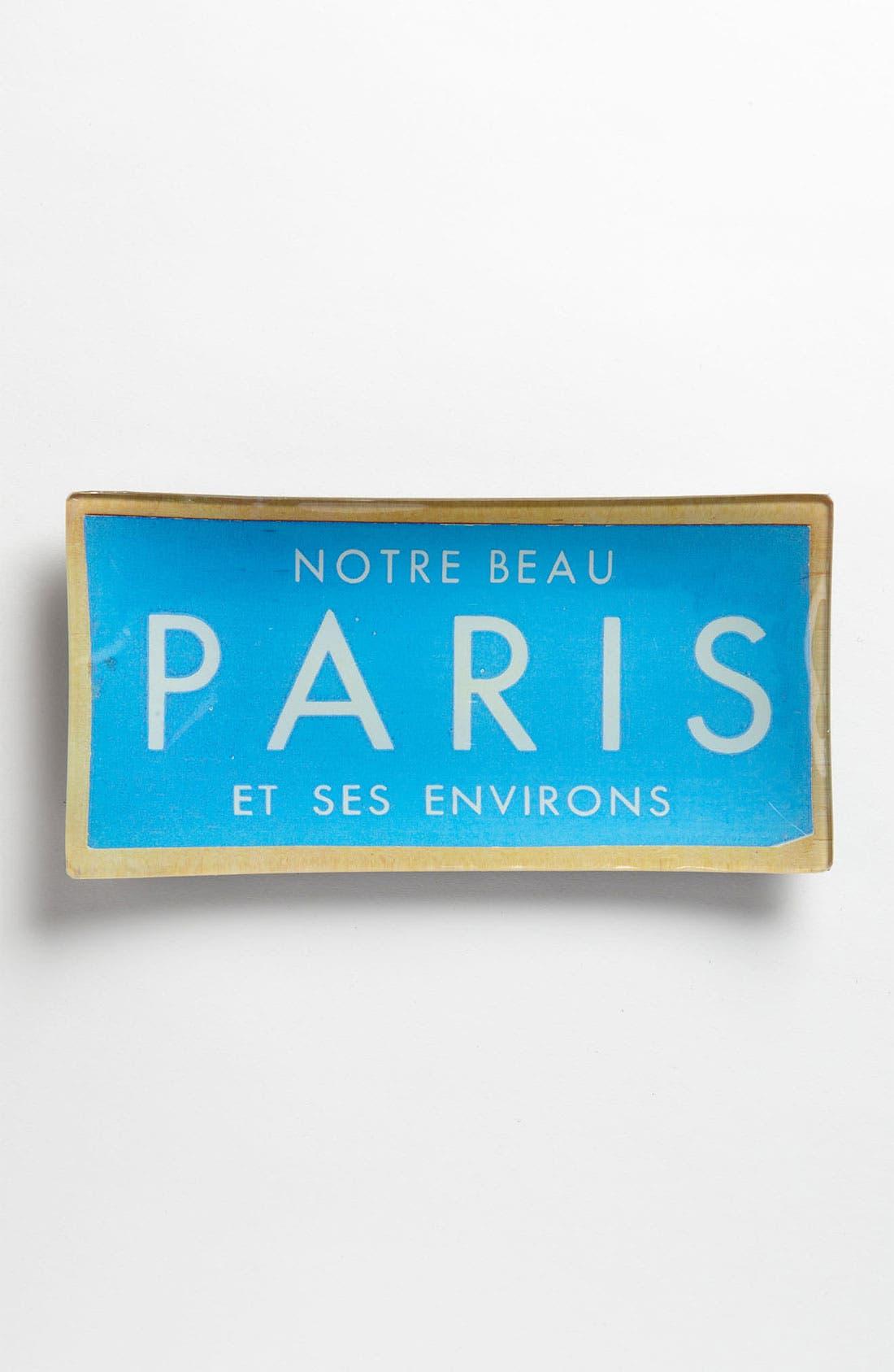 Alternate Image 1 Selected - Ben's Garden 'Vintage Paris Ticket' Trinket Tray