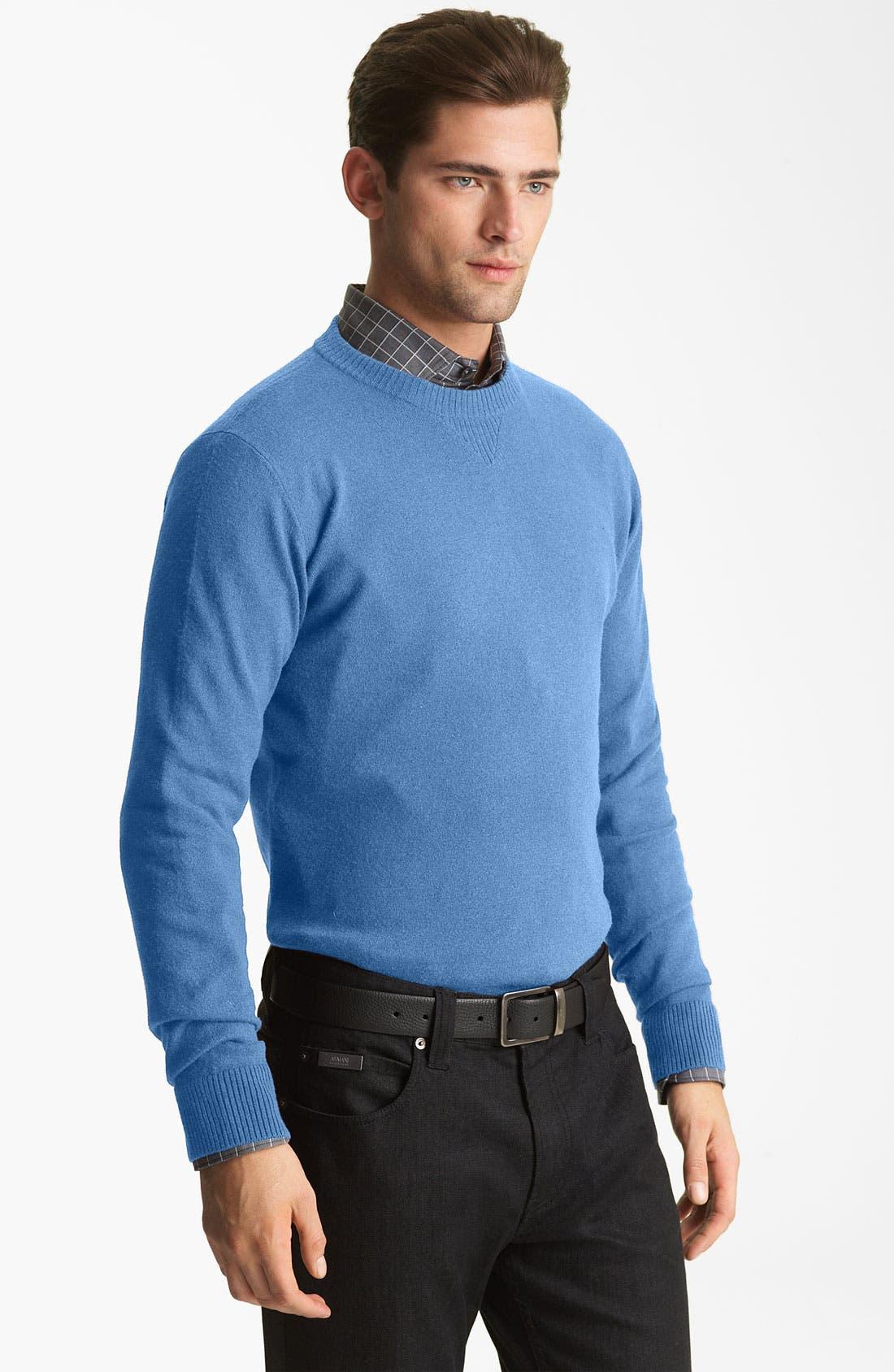 Main Image - Armani Collezioni Crewneck Sweater