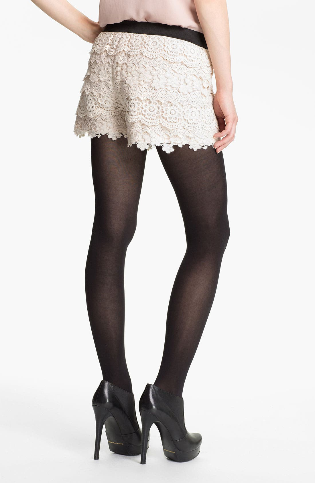 Alternate Image 2  - Mimi Chica Tiered Lace Shorts (Juniors)