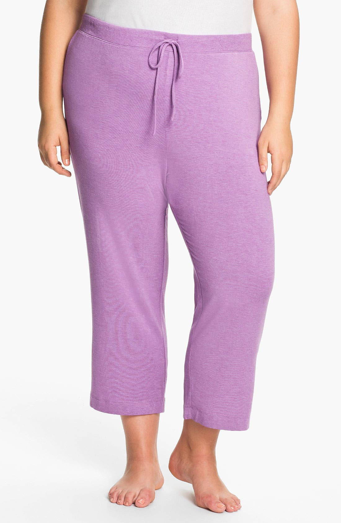 Alternate Image 1 Selected - DKNY '7 Easy Pieces' Capri Pants (Plus Size)