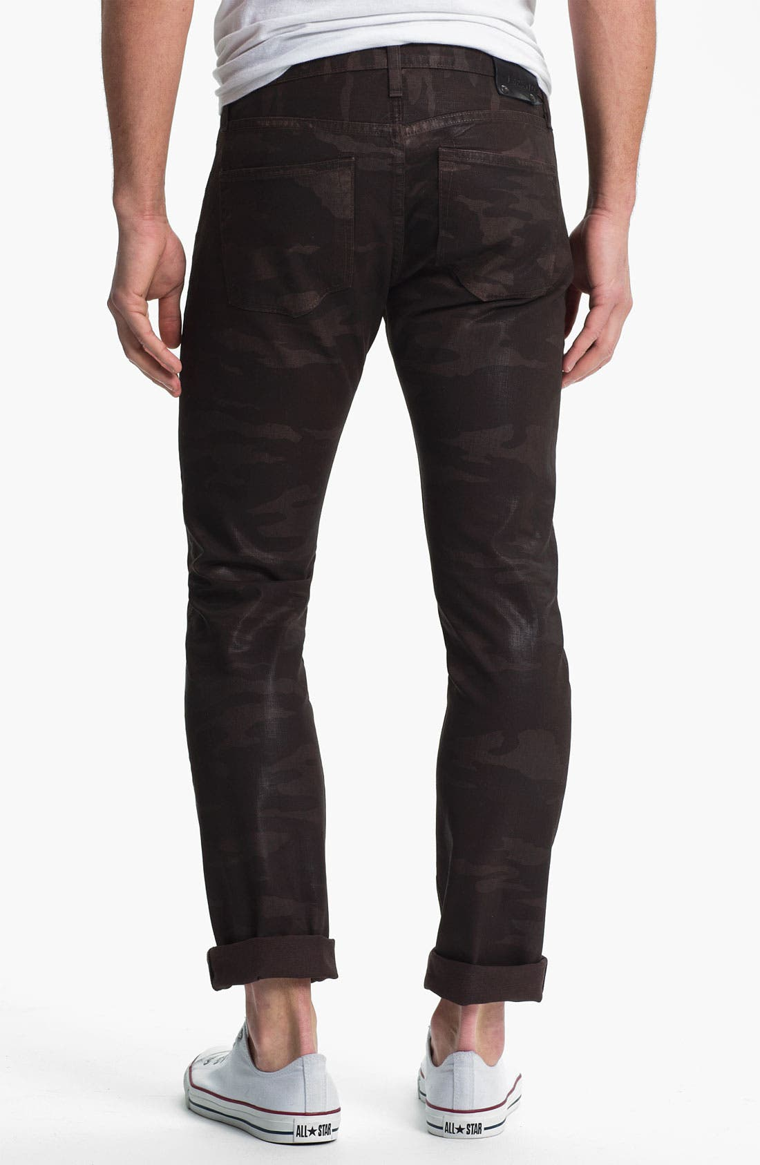 Alternate Image 1 Selected - J Brand 'Tyler' Slim Straight Leg Jeans (Coated Wood Camo)