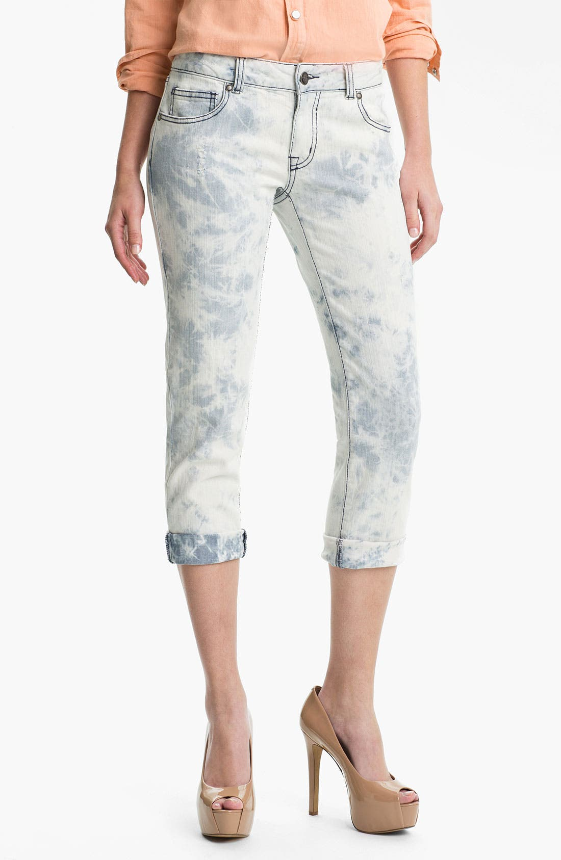 Alternate Image 1 Selected - Jessica Simpson Ankle Jeans (Marble Madness)