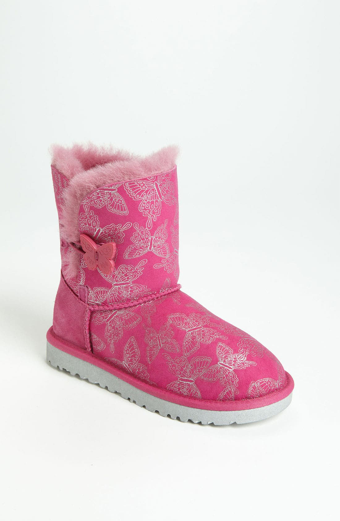 Alternate Image 1 Selected - UGG® Australia 'Bailey Button - Butterfly' Boot (Walker, Toddler, Little Kid & Big Kid)