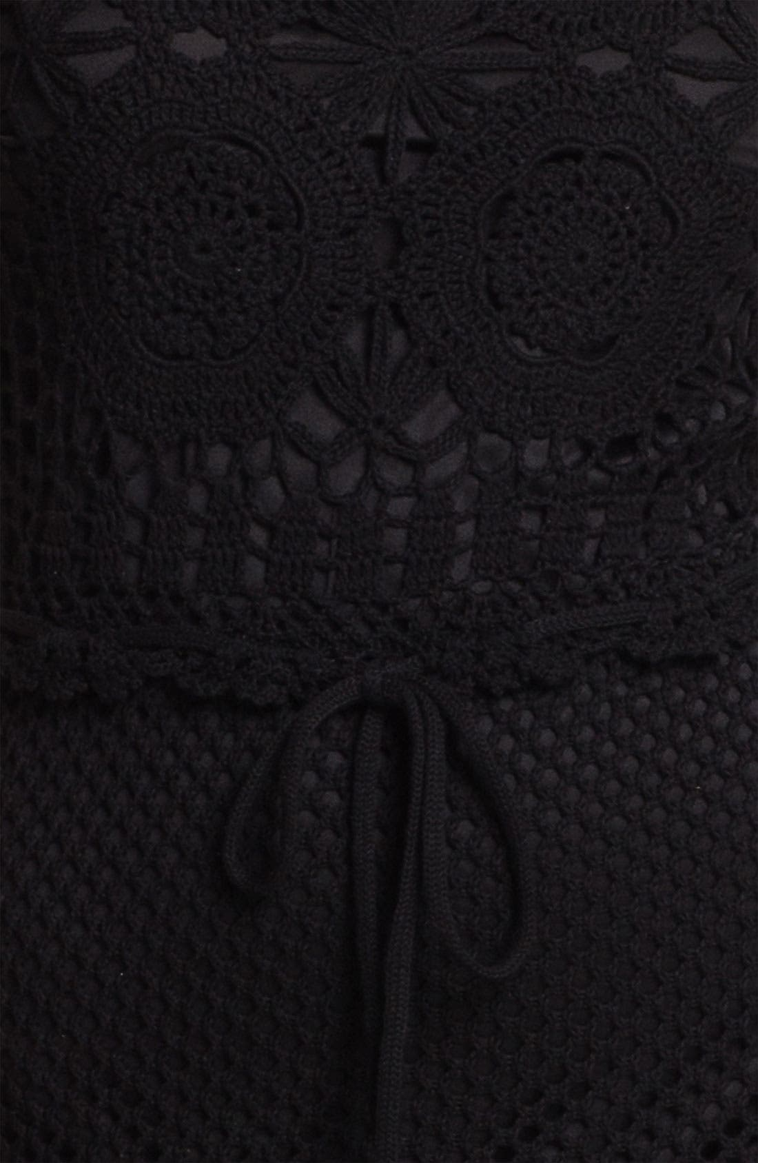 Alternate Image 3  - Taylor Dresses Crochet Maxi Dress