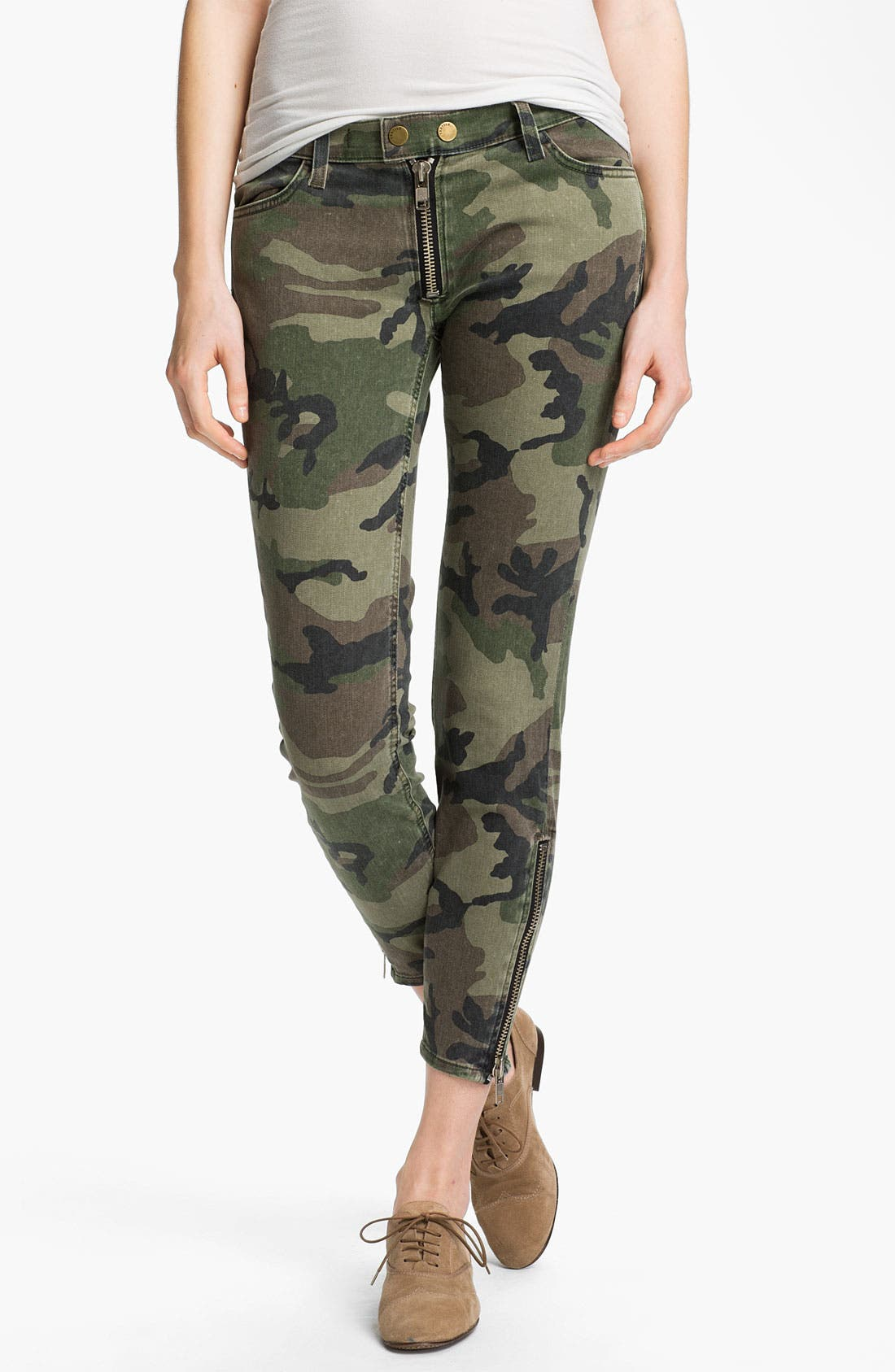 Alternate Image 1 Selected - TEXTILE Elizabeth and James 'Cooper' Skinny Camo Print Jeans